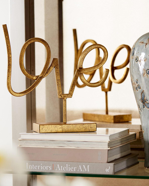 Gold Accent mantle decoration