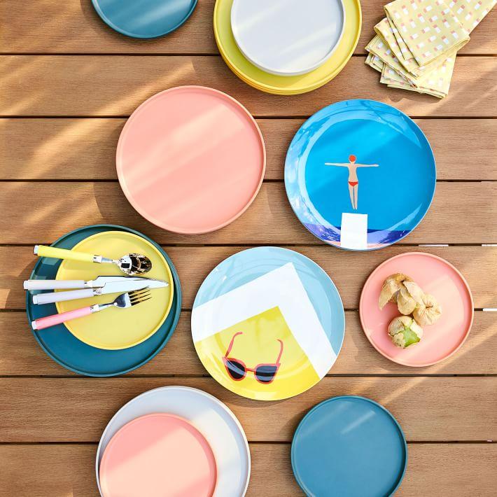 west elm colorful plates