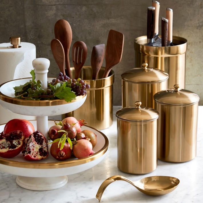 williams-sonoma gold kitchenware