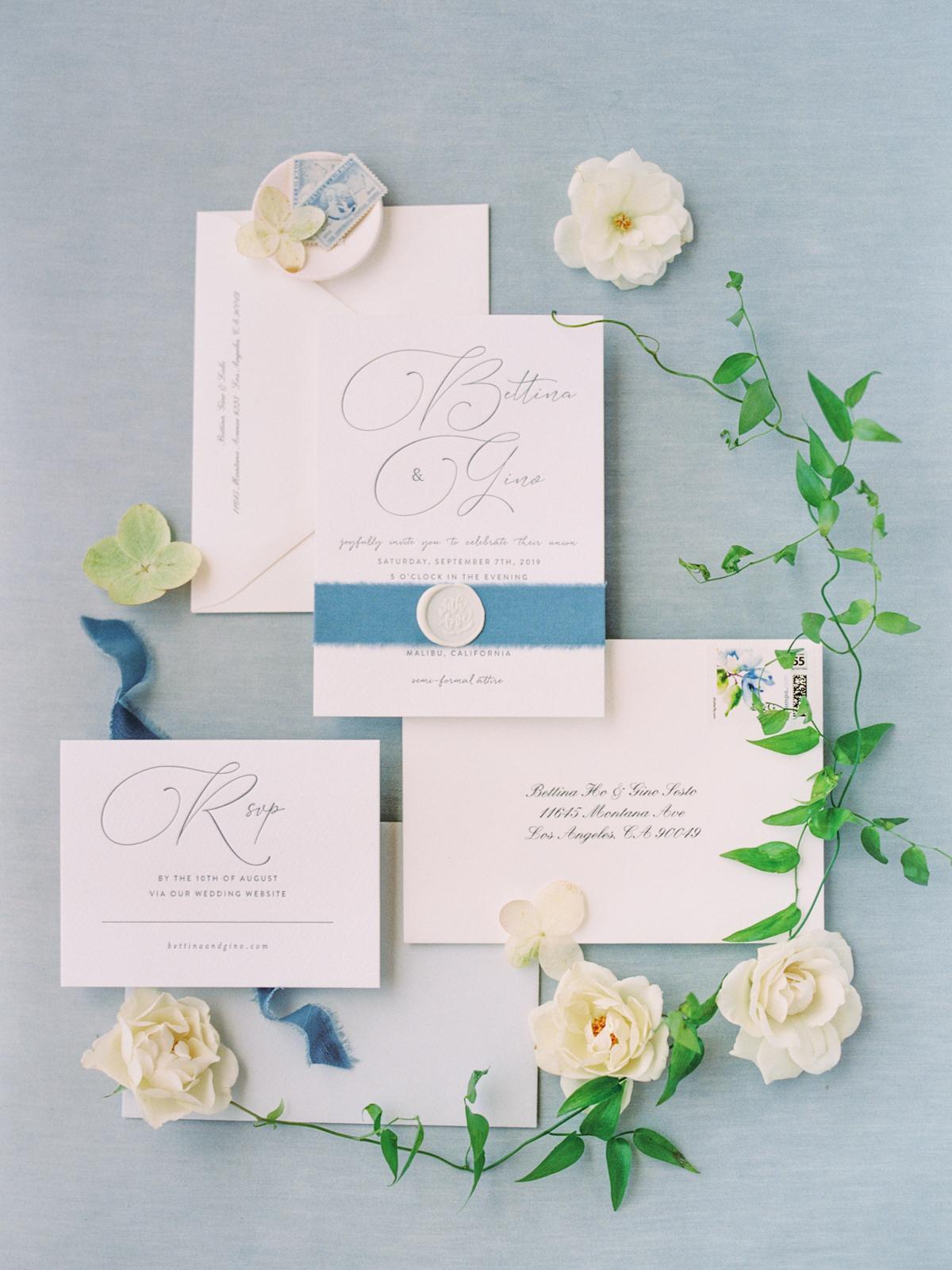 bettina gino wedding invites with flowers