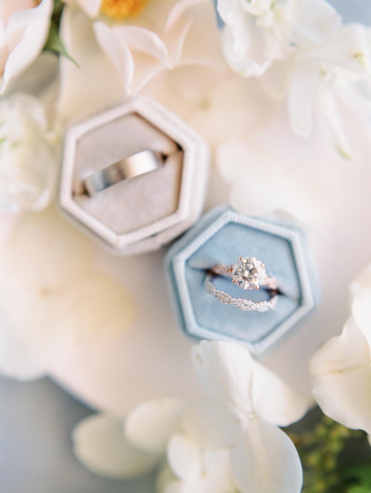 bettina gino wedding rings in box