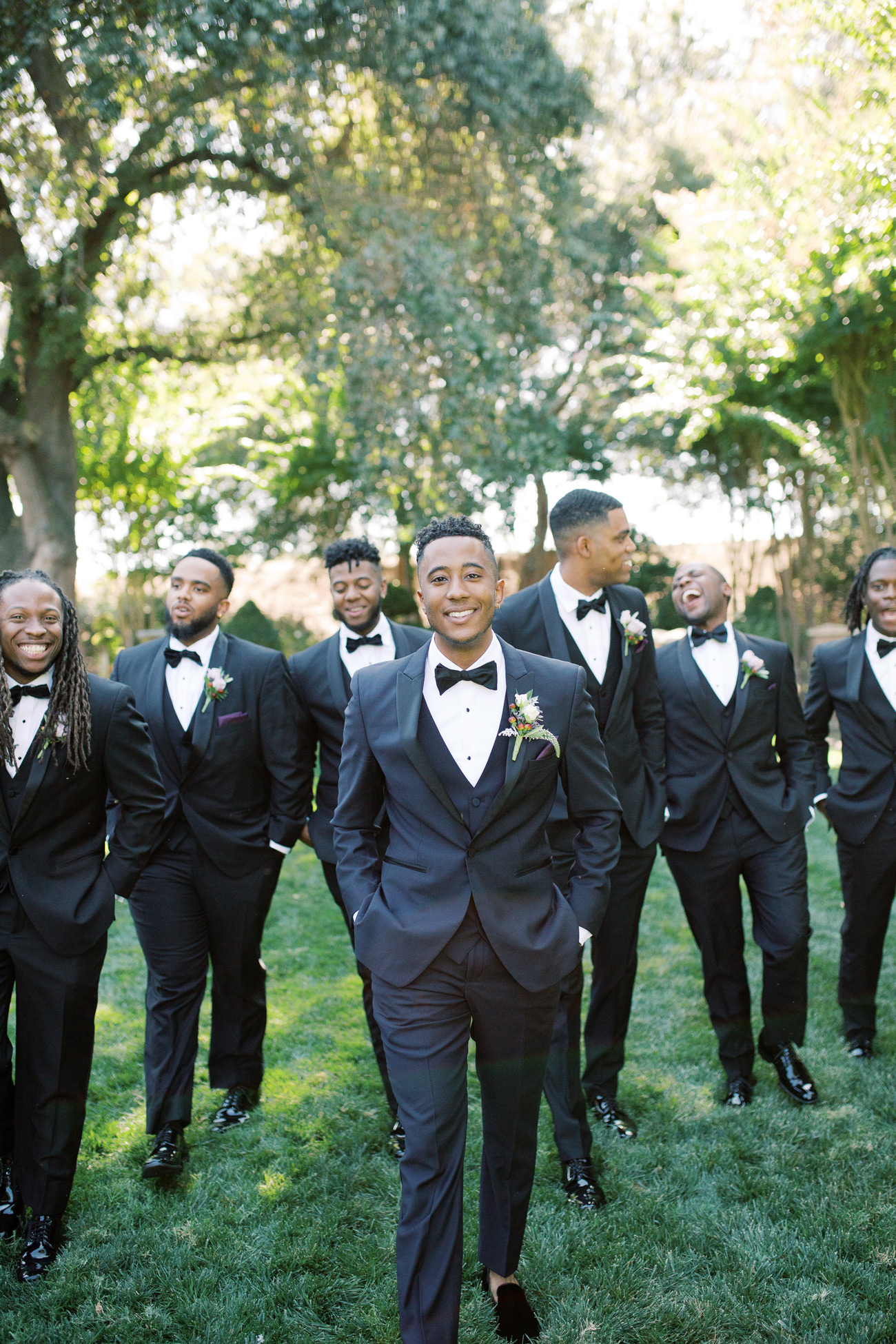 Braxton with groomsmen