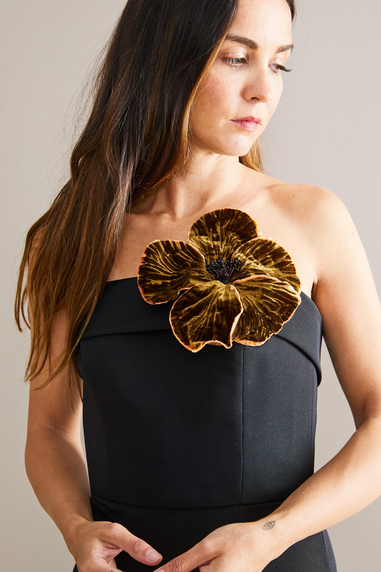 Dress with flower upgrade