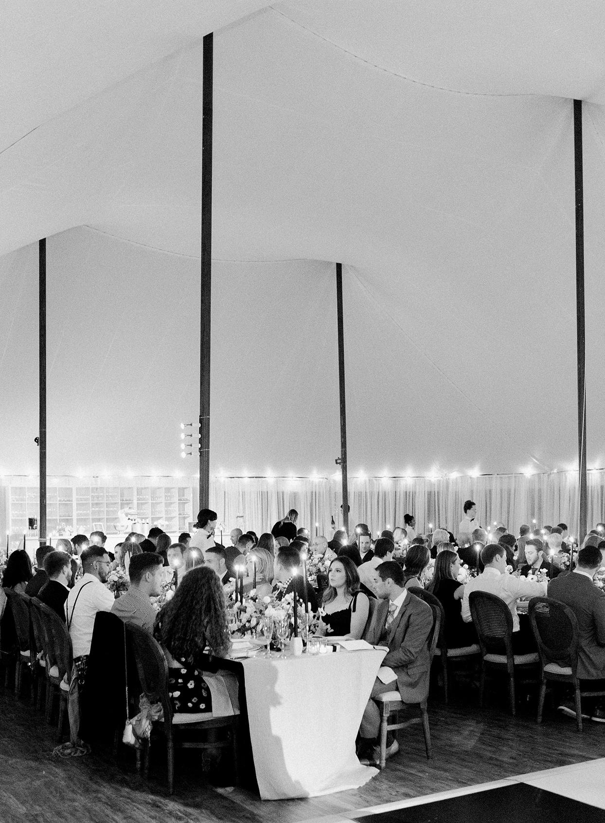hillary alexander wedding dinner reception in tent