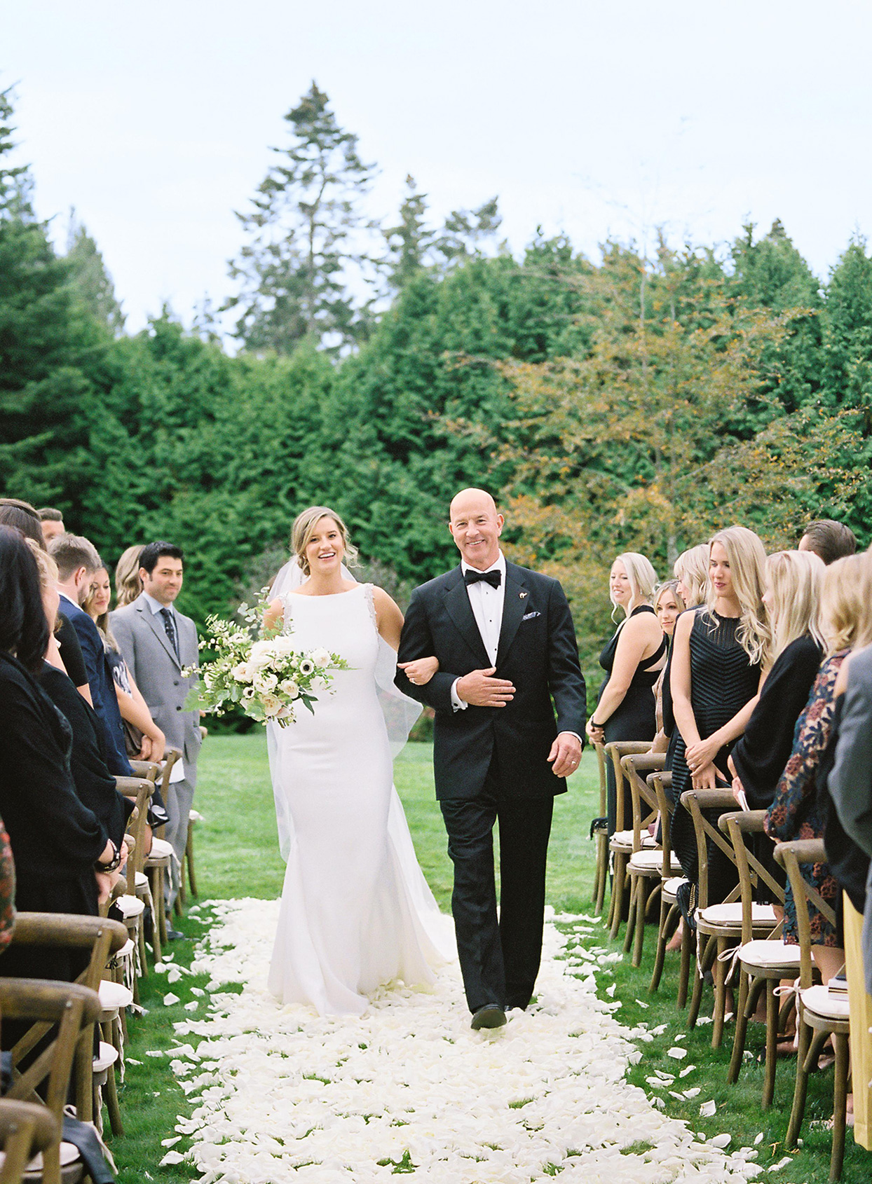 hillary alexander wedding bride and father processional
