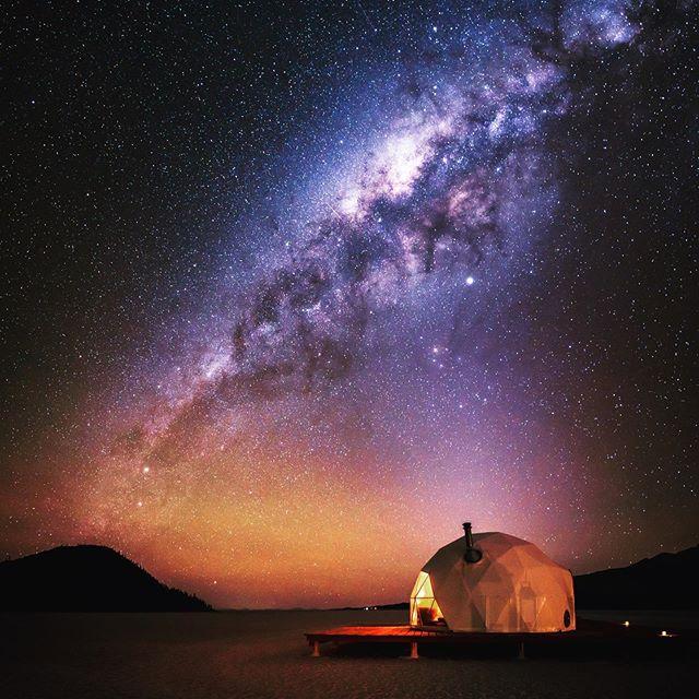 Luxury domes under stars