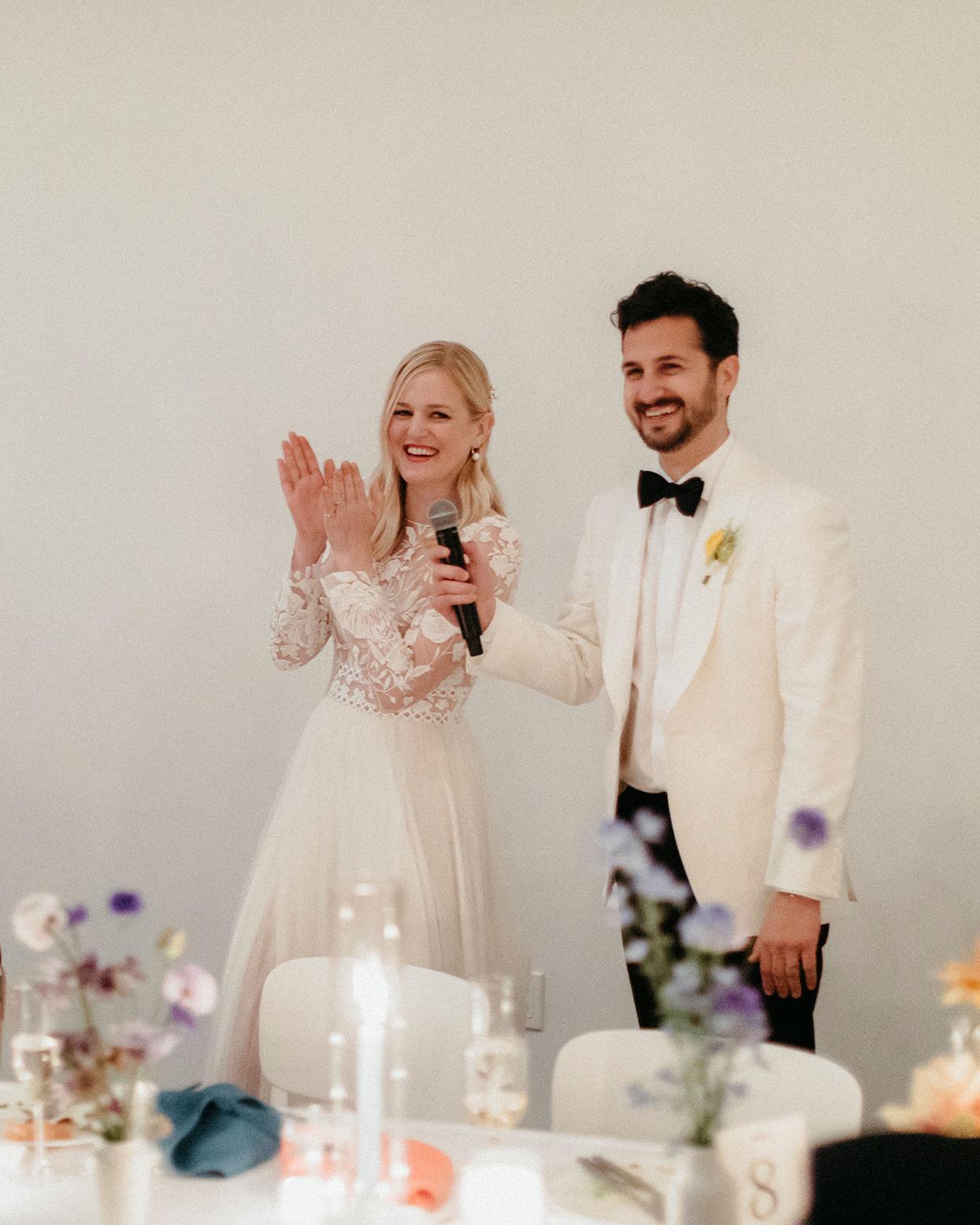kristen jonathan wedding toast couple