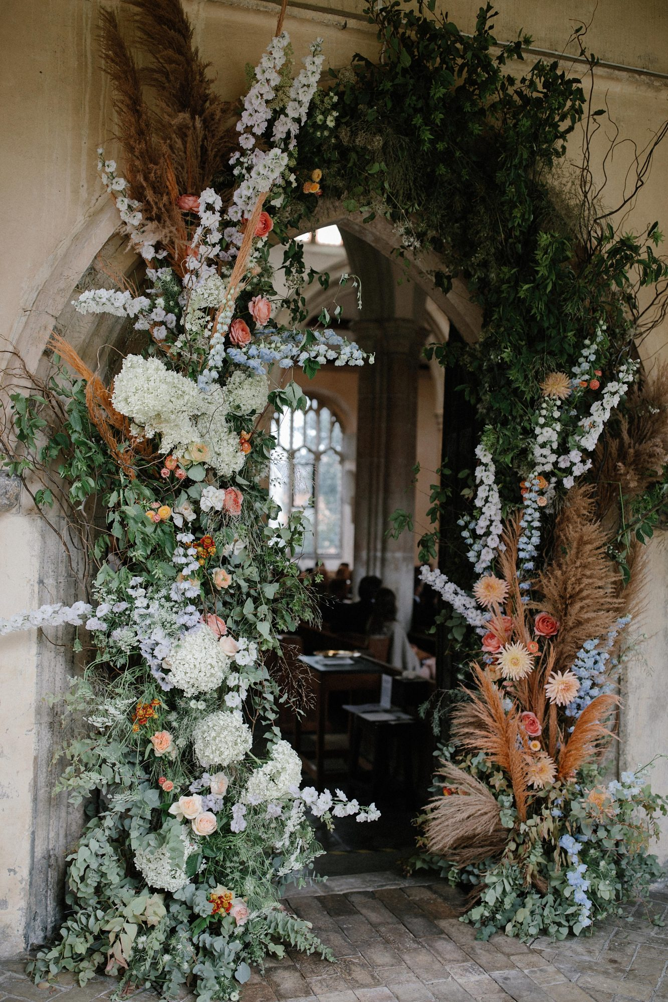 laurie lee wedding floral decor archway
