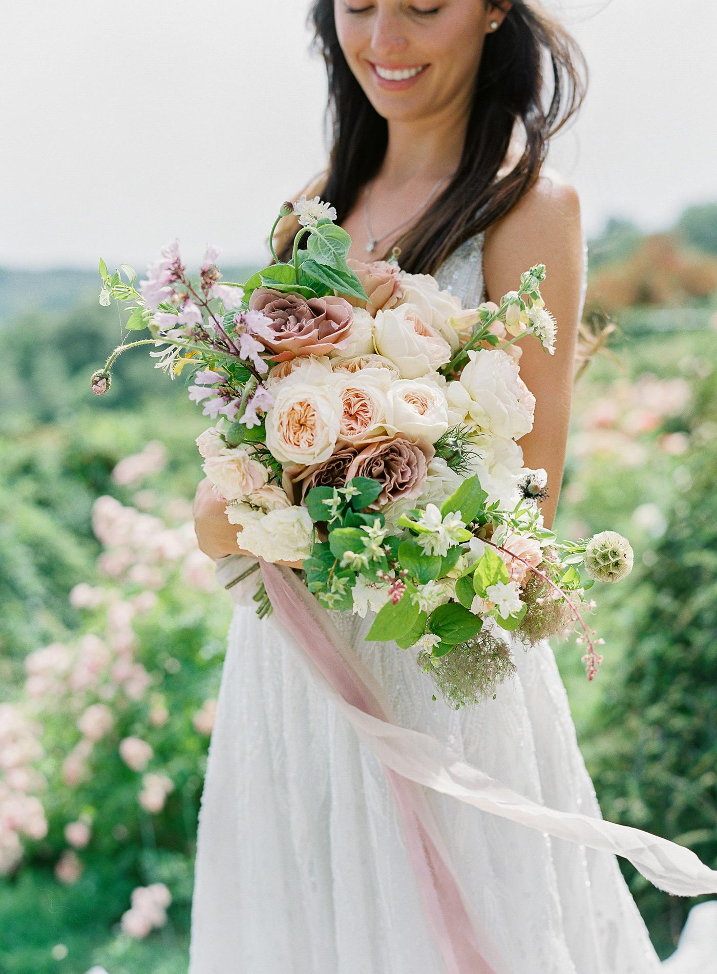 portrait madison holding bouquet