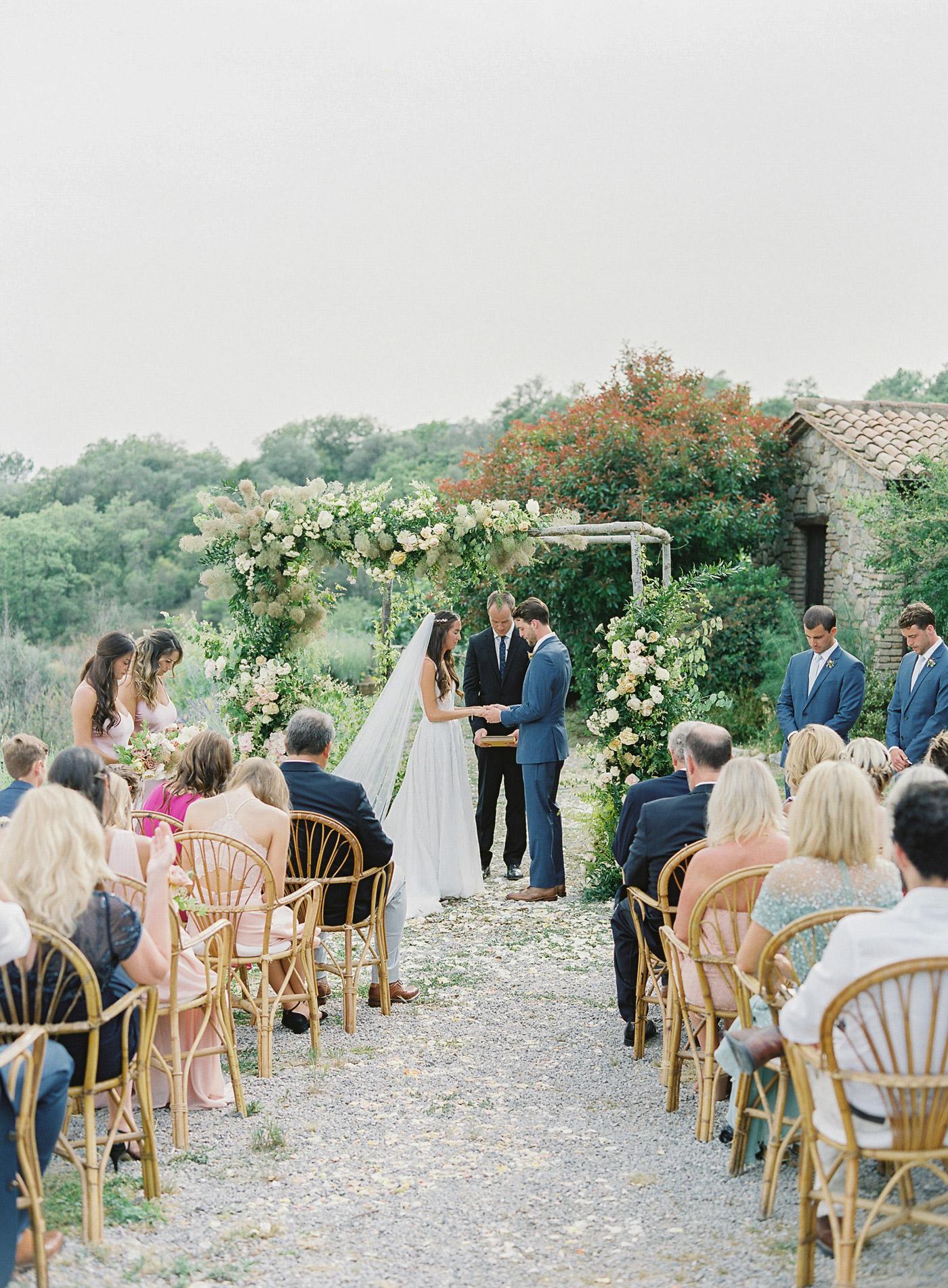 Madison and James wedding ceremony