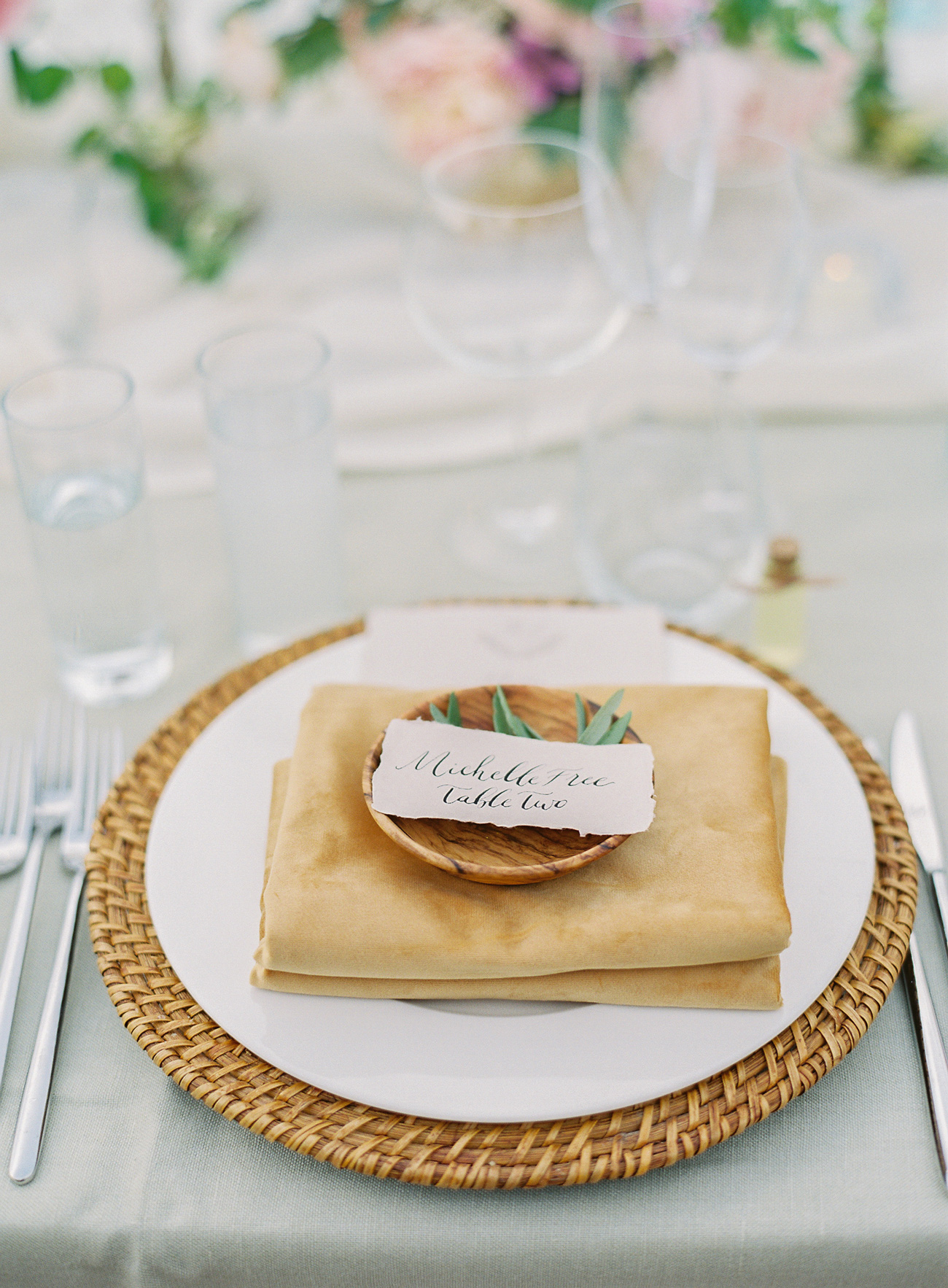 earthy place setting