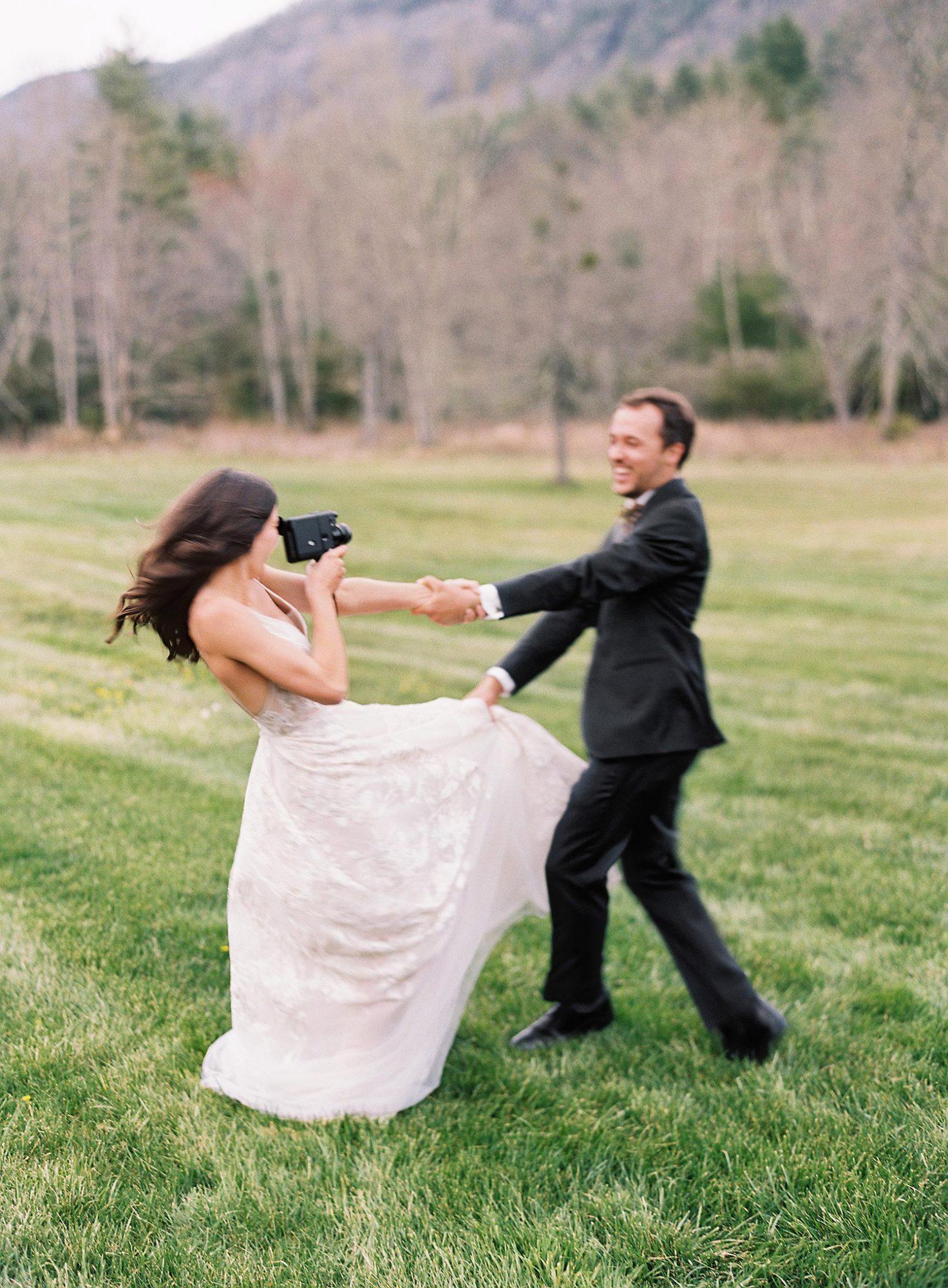 maya trey wedding couple video camera