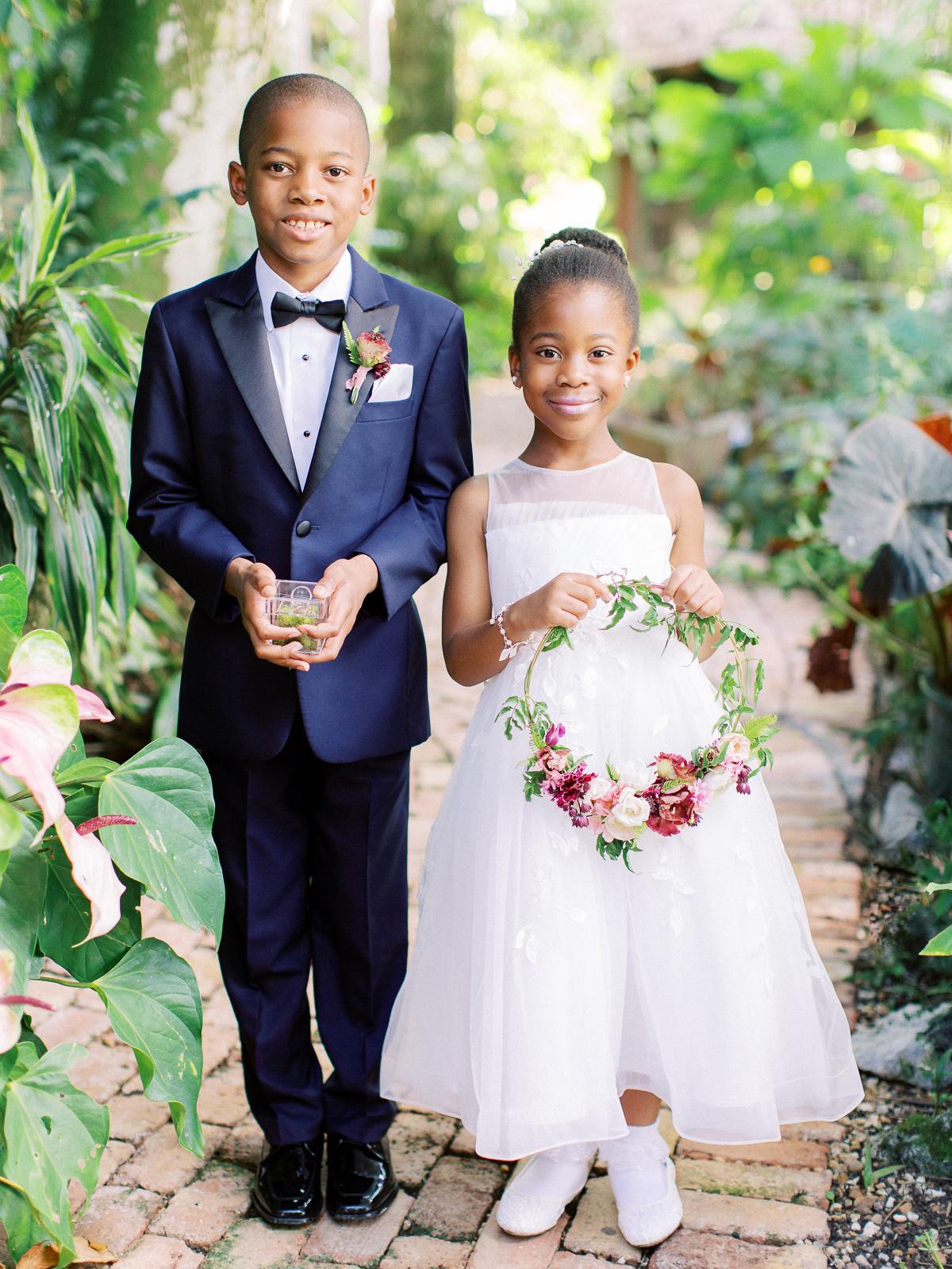 melissa lindsey wedding flower girl and ring bearer
