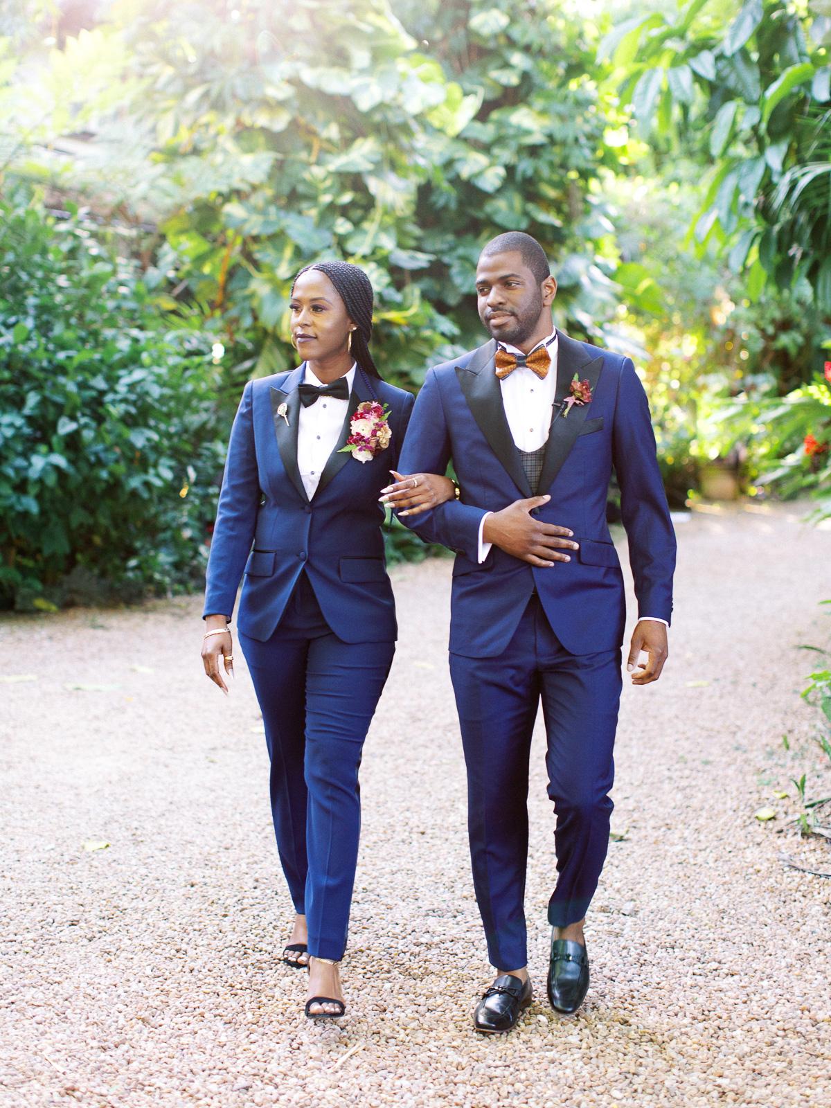 melissa lindsey wedding groomswoman and groom