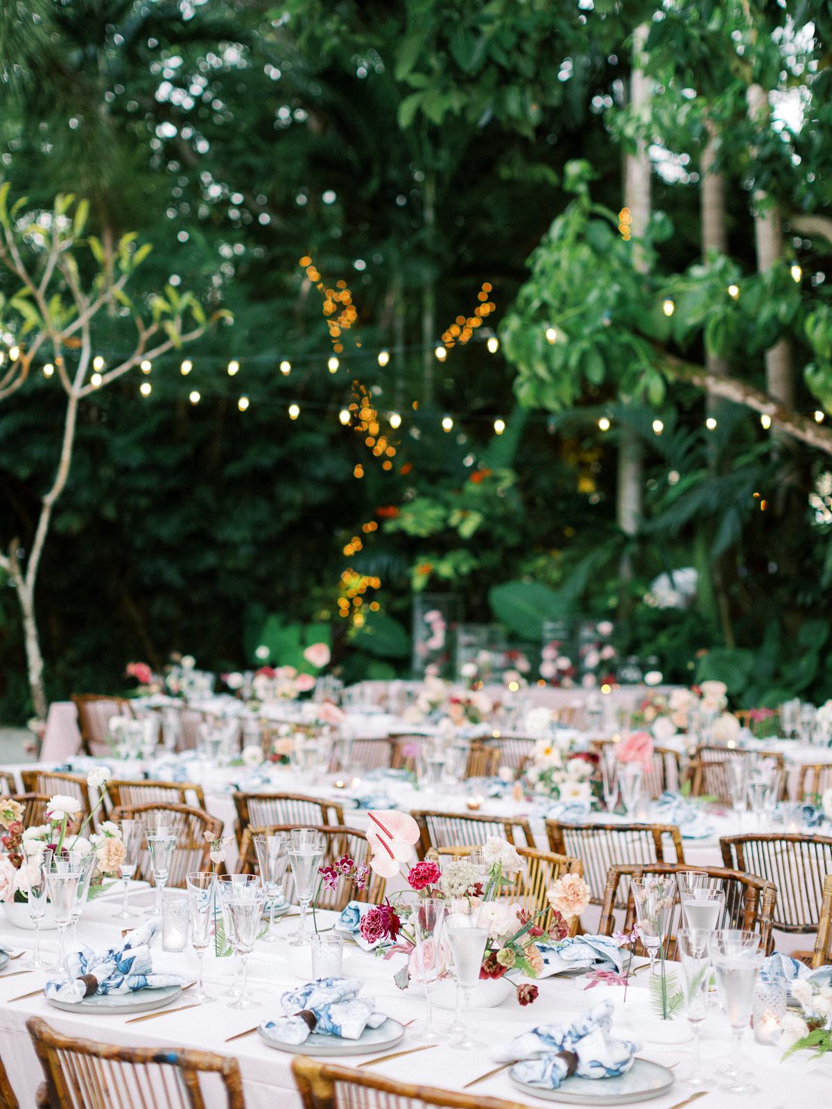 melissa lindsey wedding reception outdoor tables pink florals