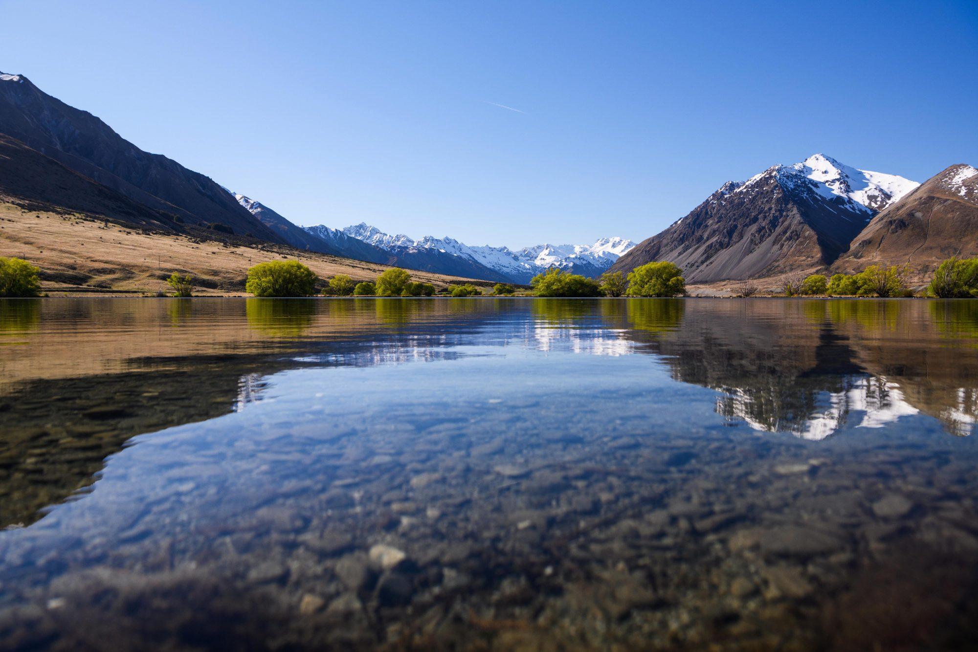 Ahuriri River in New Zealand