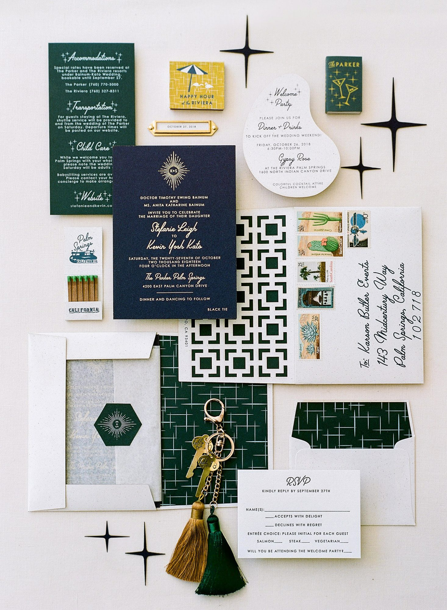 Stefanie Kevin Wedding Invitations and Stationery