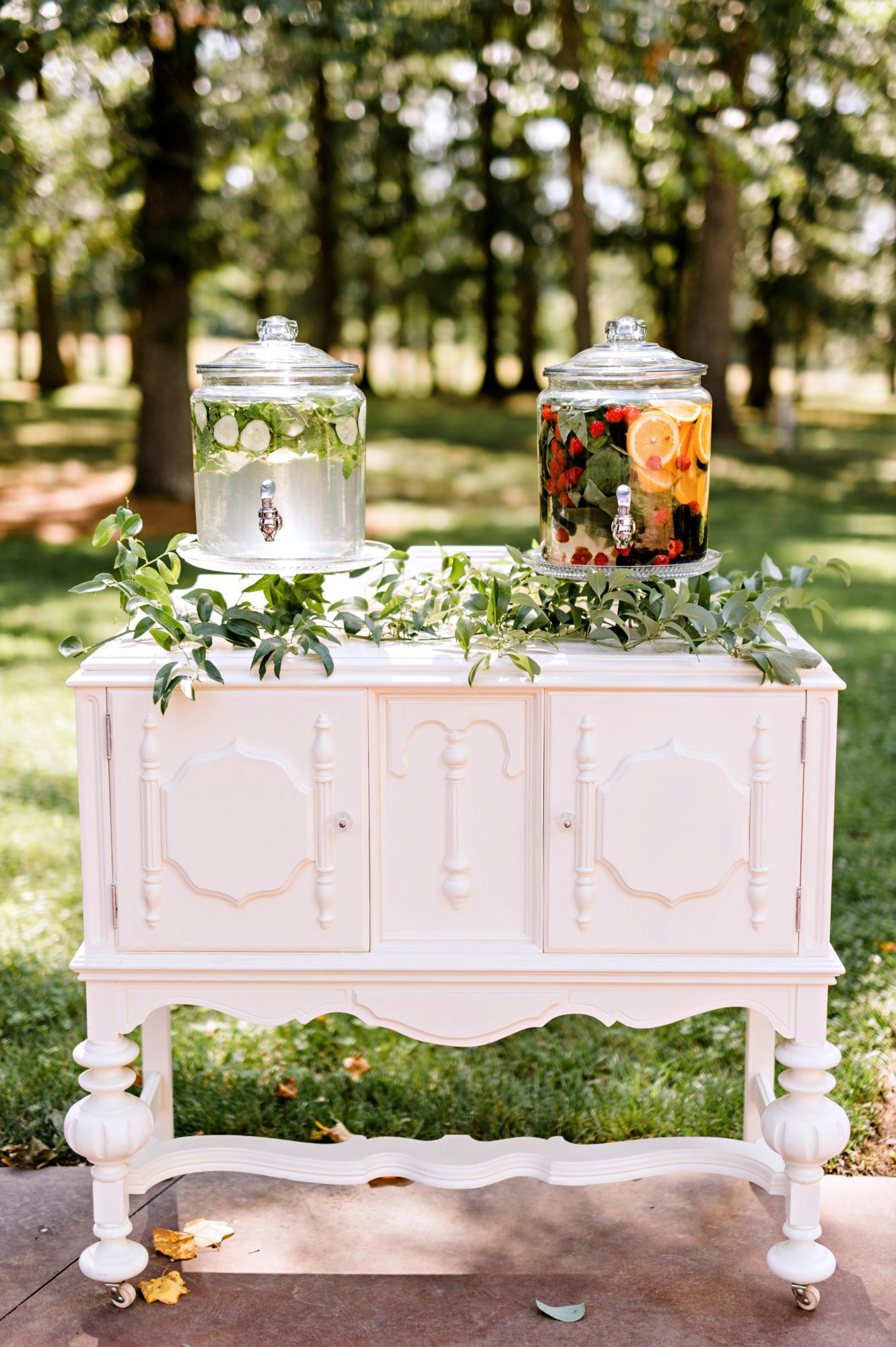 wedding refreshment station