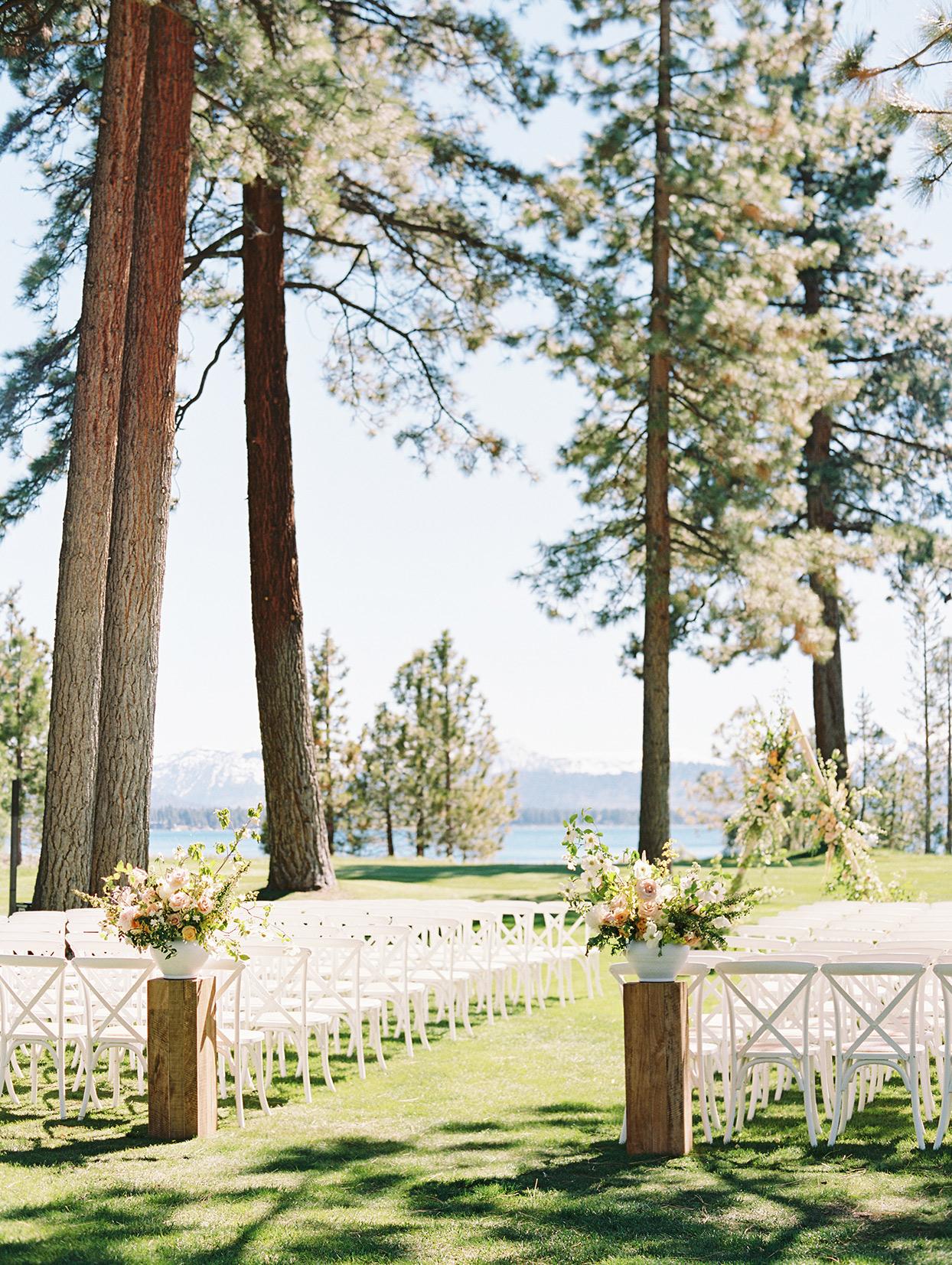 asha andrew wedding ceremony location by lake tahoe