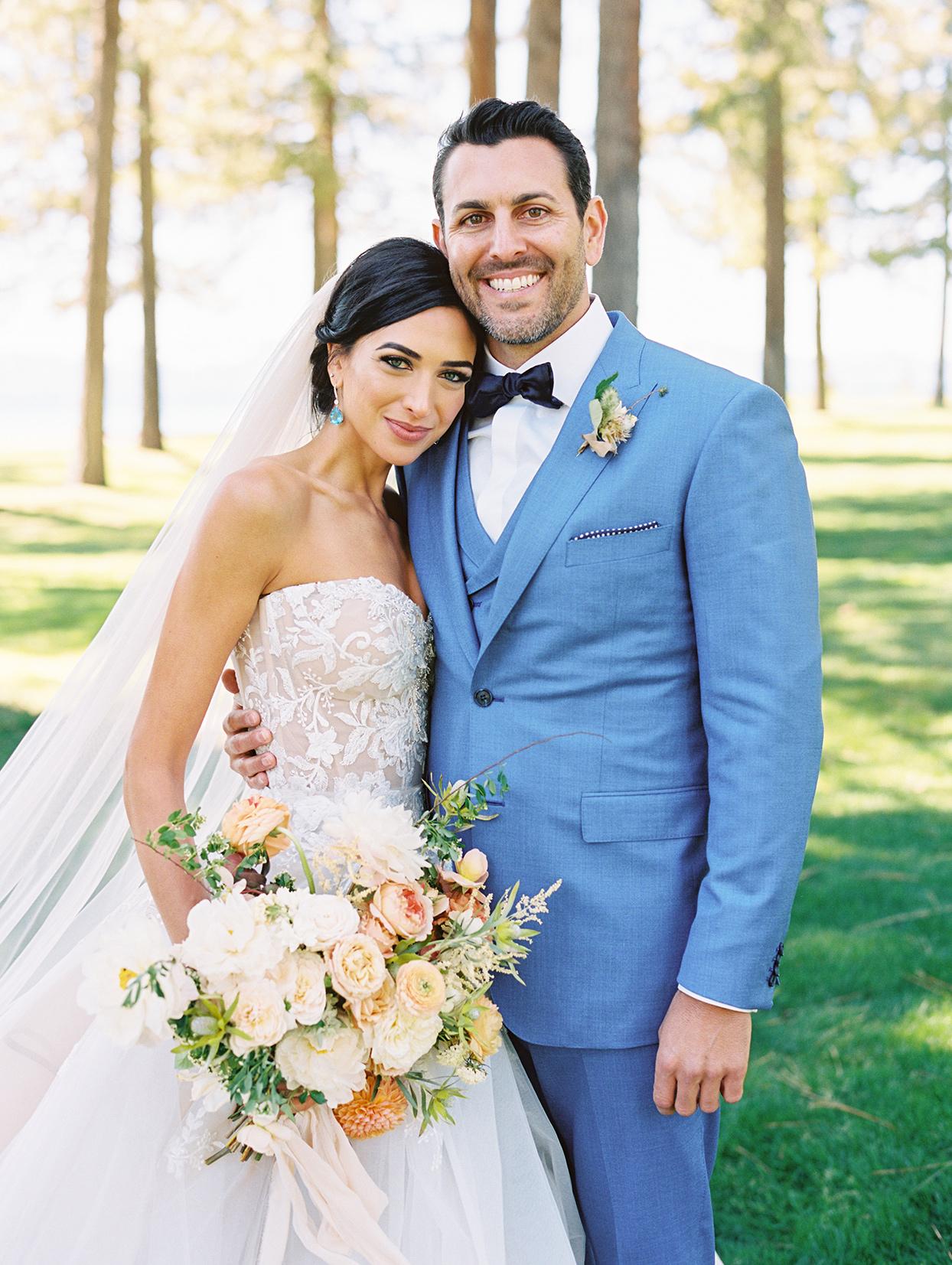 asha andrew wedding couple