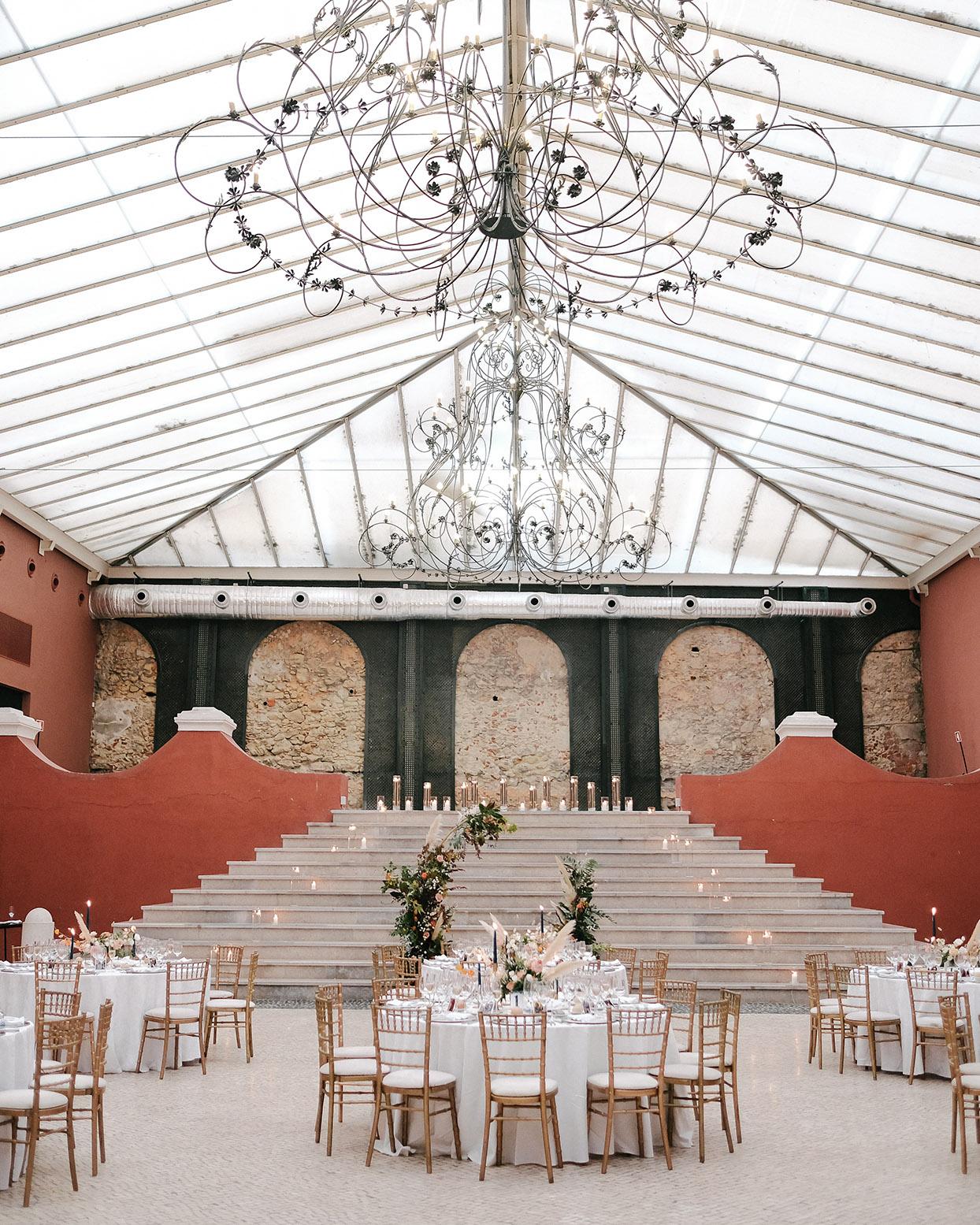 emily scott wedding reception venue stairs