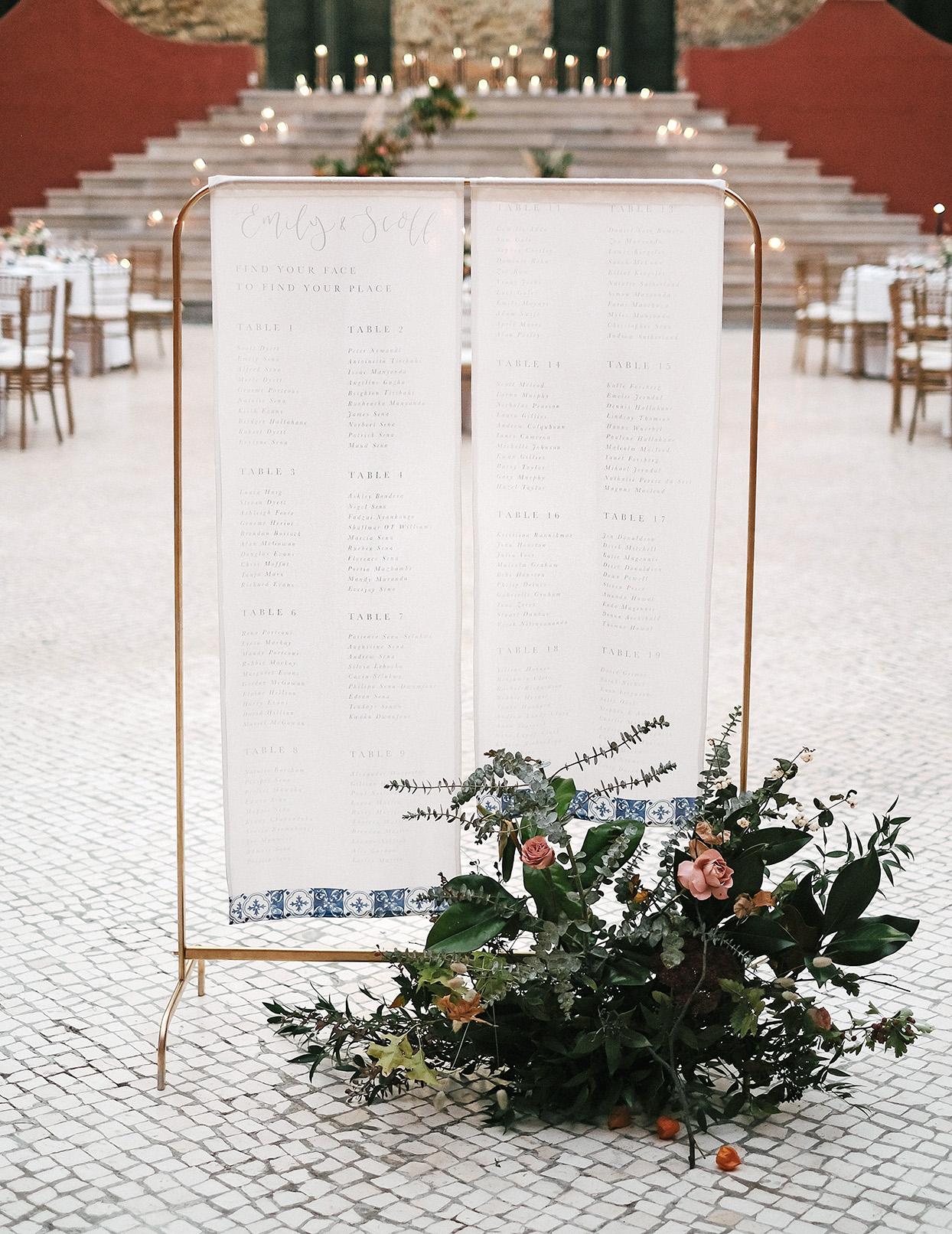 emily scott wedding seating chart