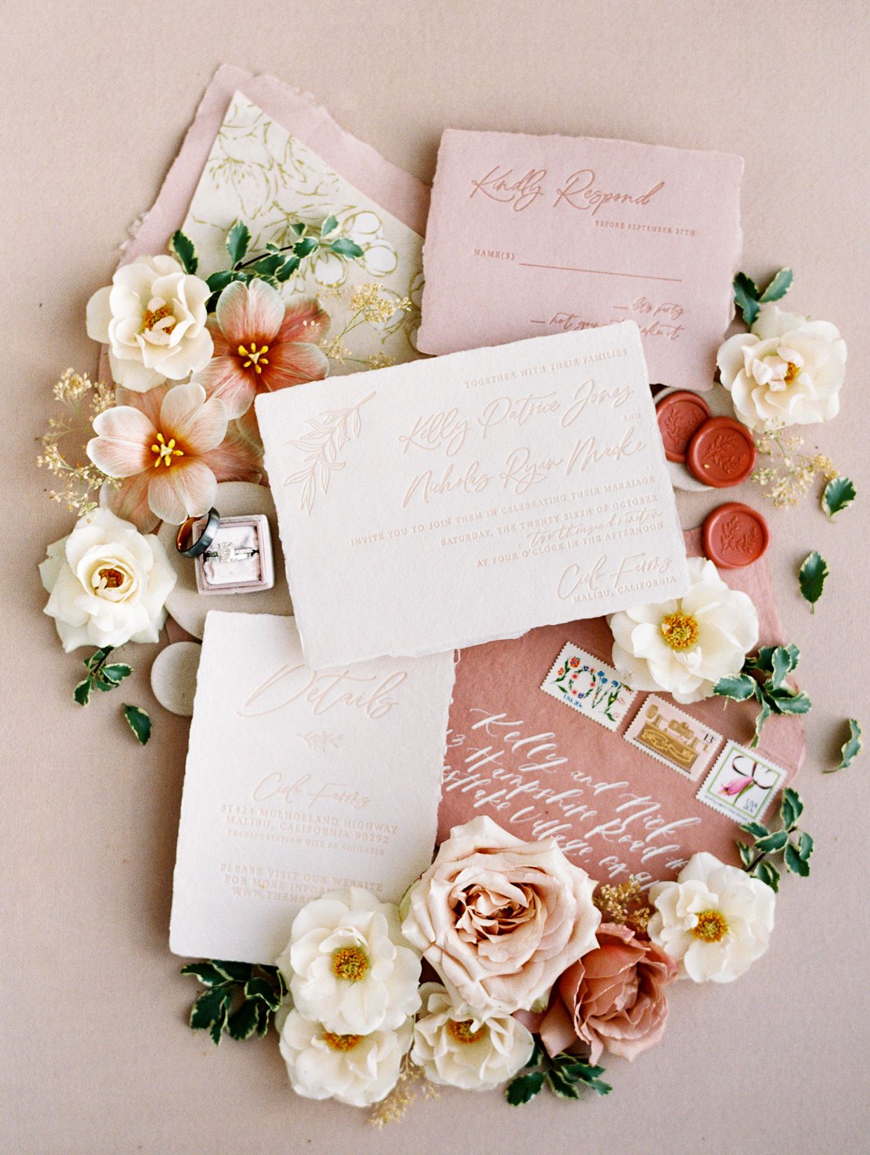 Textured Invitations