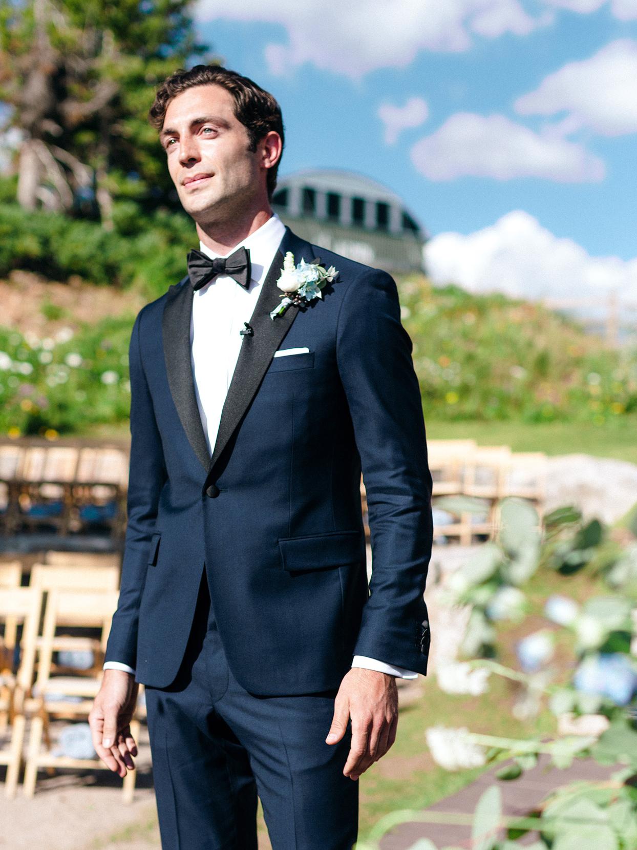 kimmie mike wedding groom in dark blue