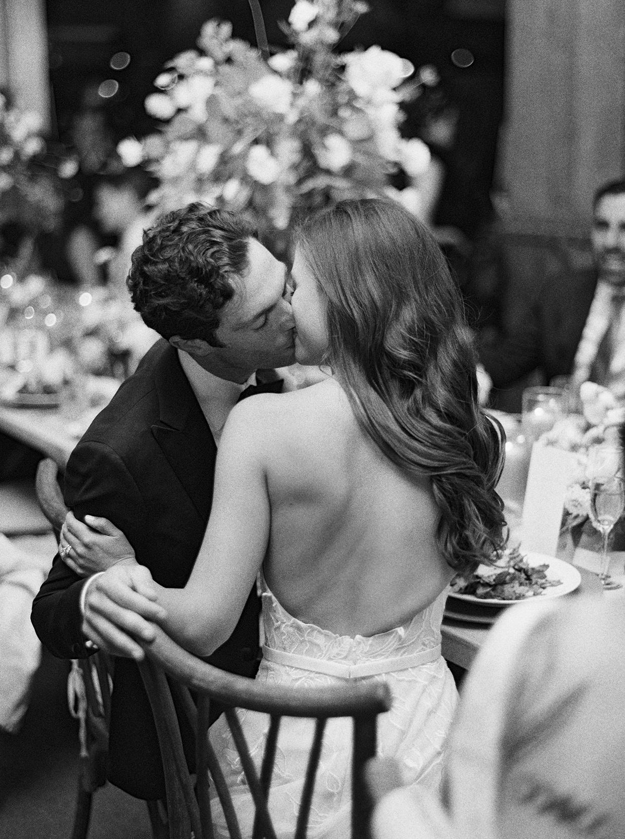kimmie mike wedding reception kiss