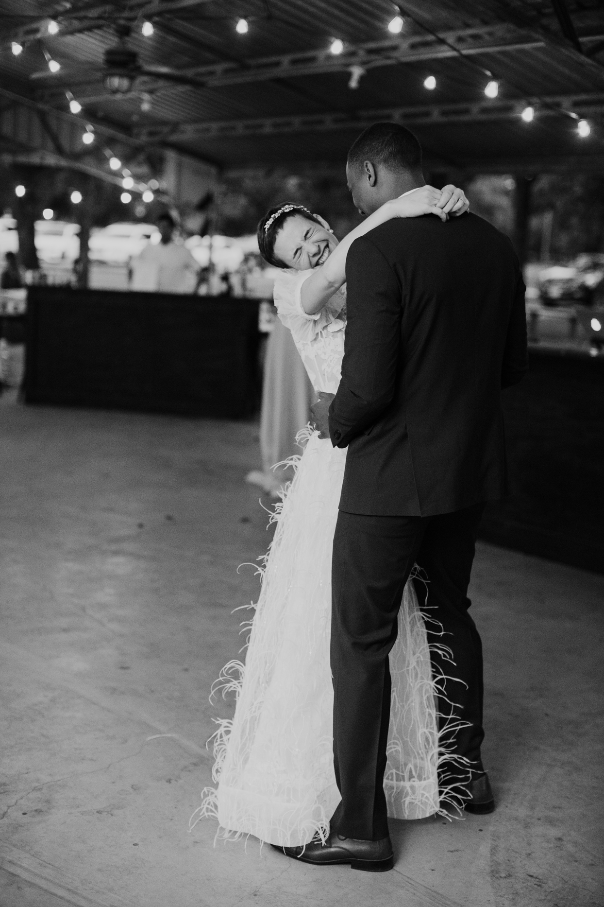 Couple during their first dance