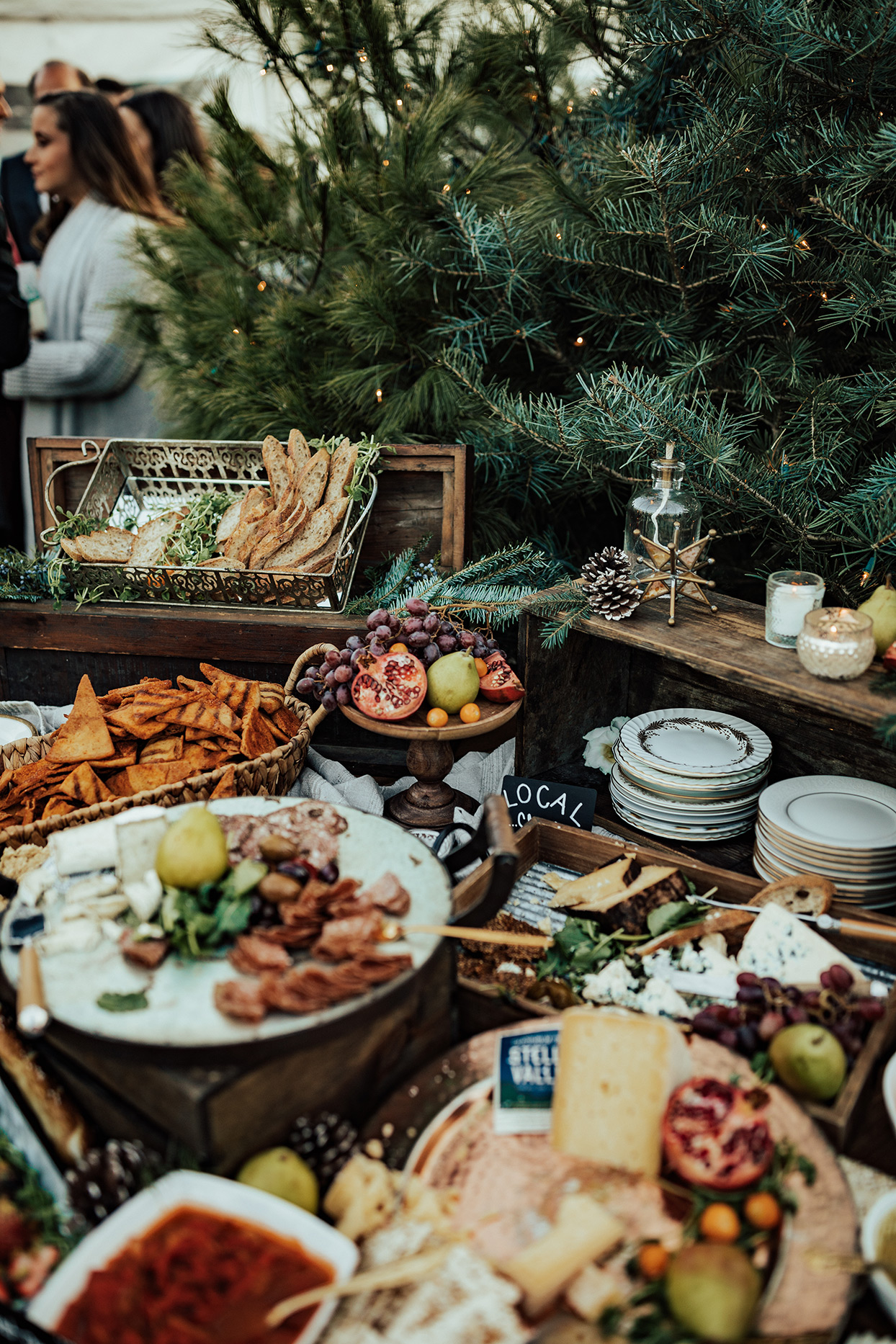 noelle danny rustic wedding grazing table