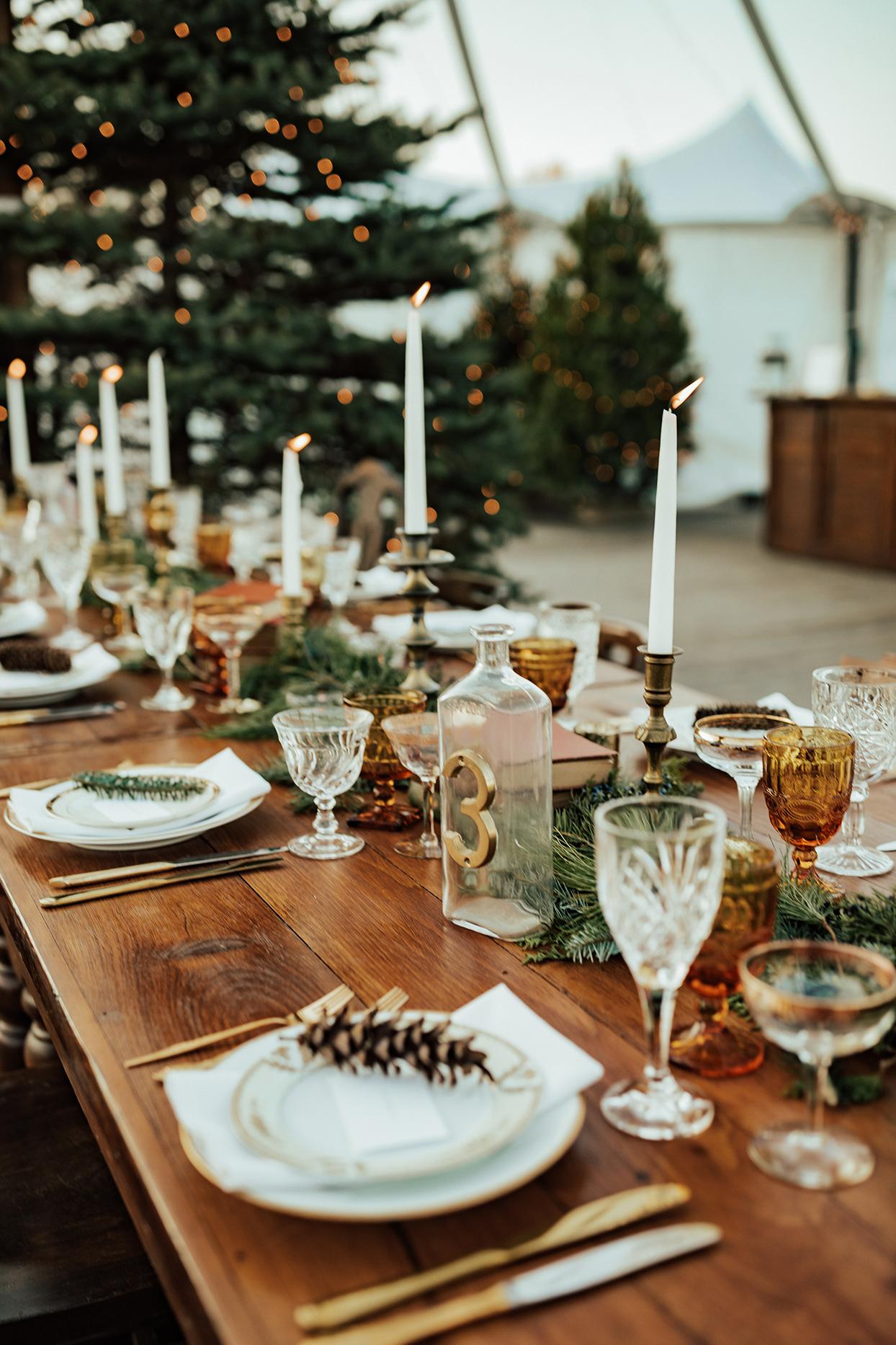 noelle danny wedding wooden rustic table setting