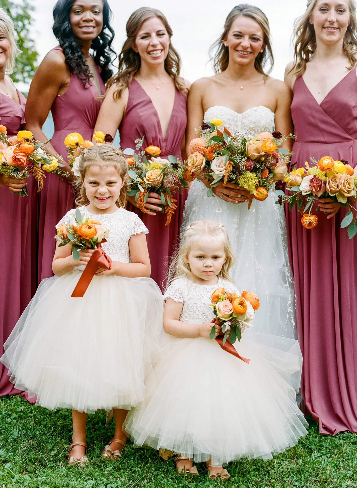 sarah jake wedding bride bridesmaids flower girls