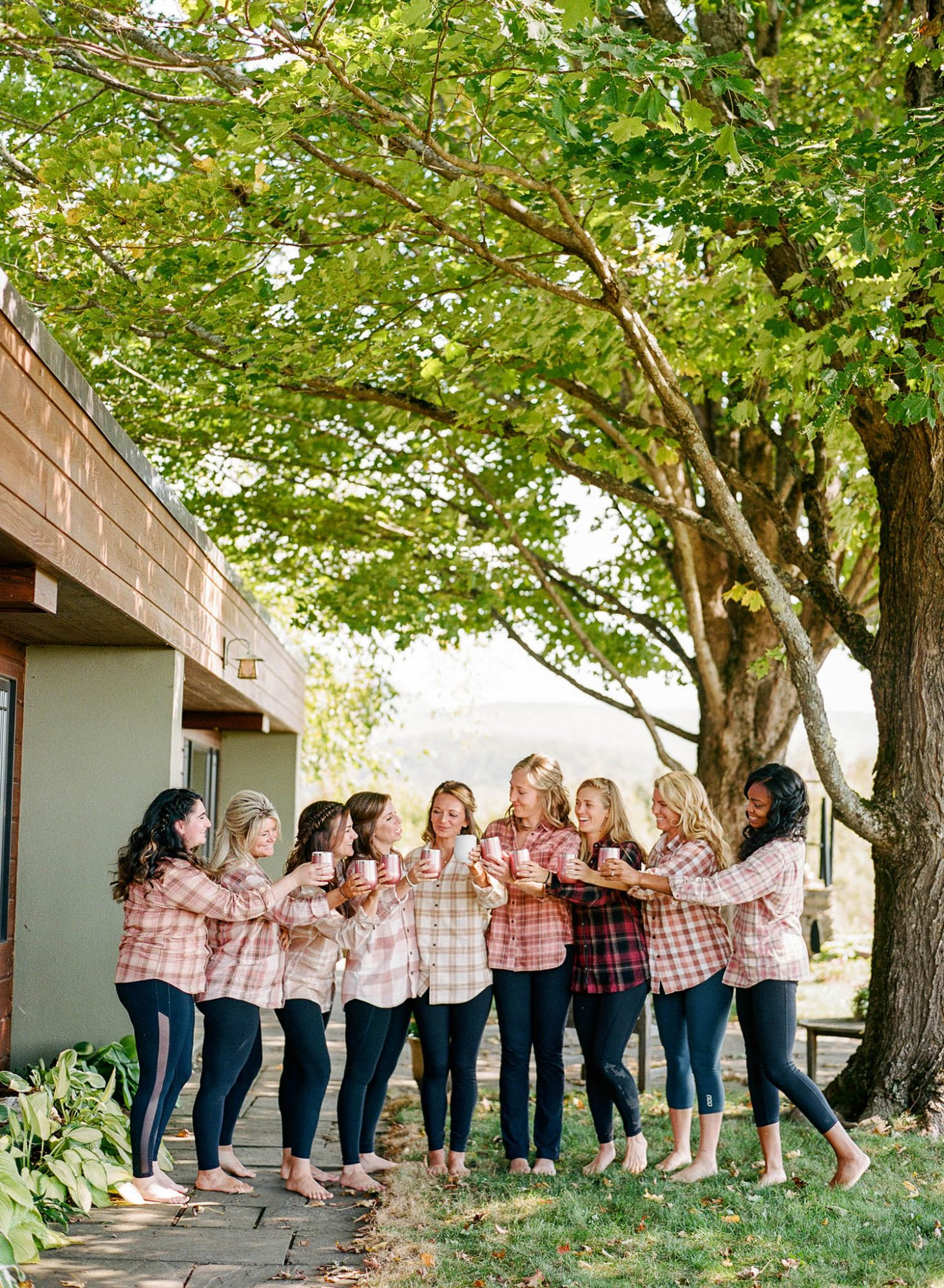 sarah jake wedding bridesmaids flannels