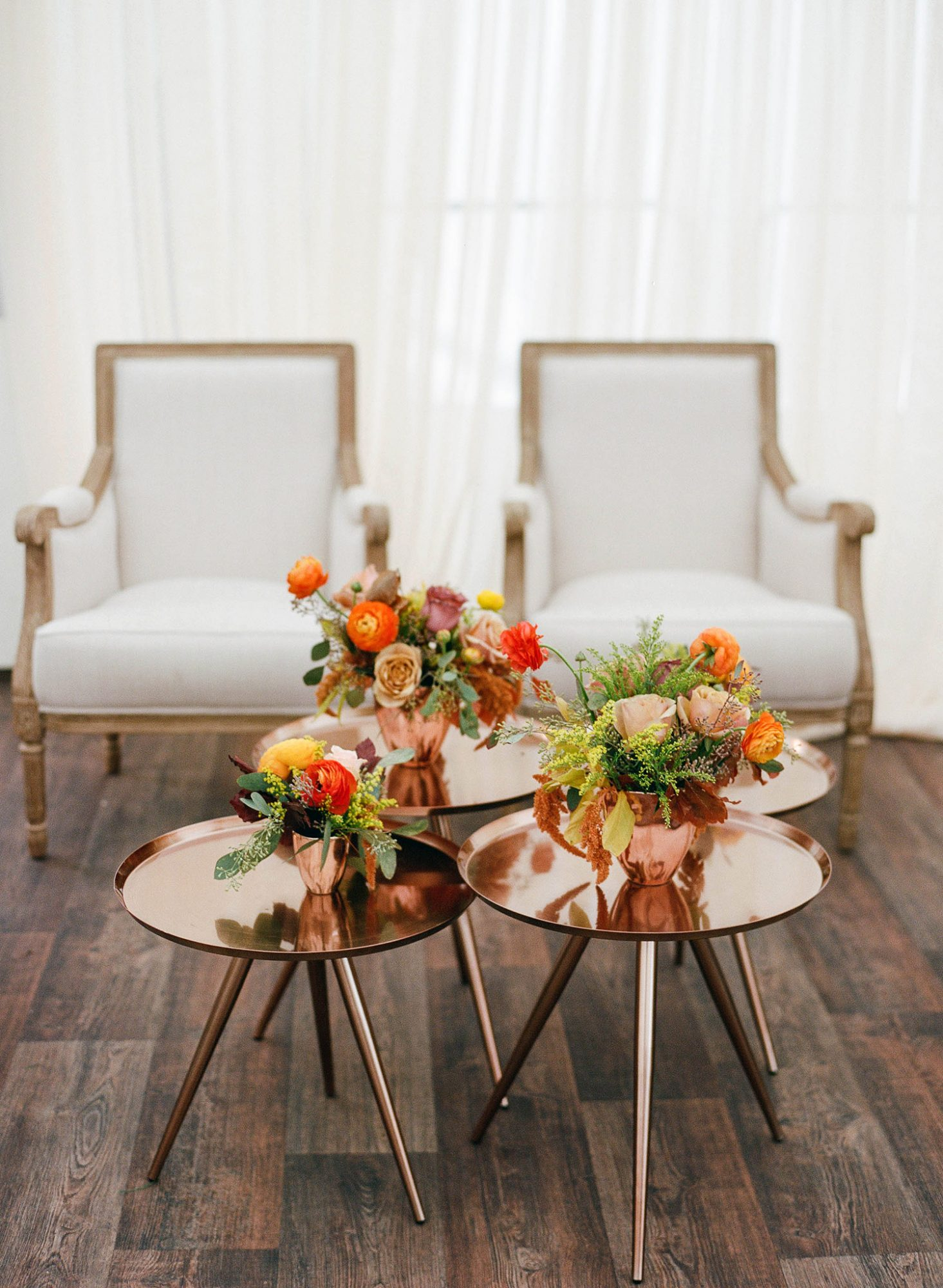 sarah jake wedding lounge floral centerpieces
