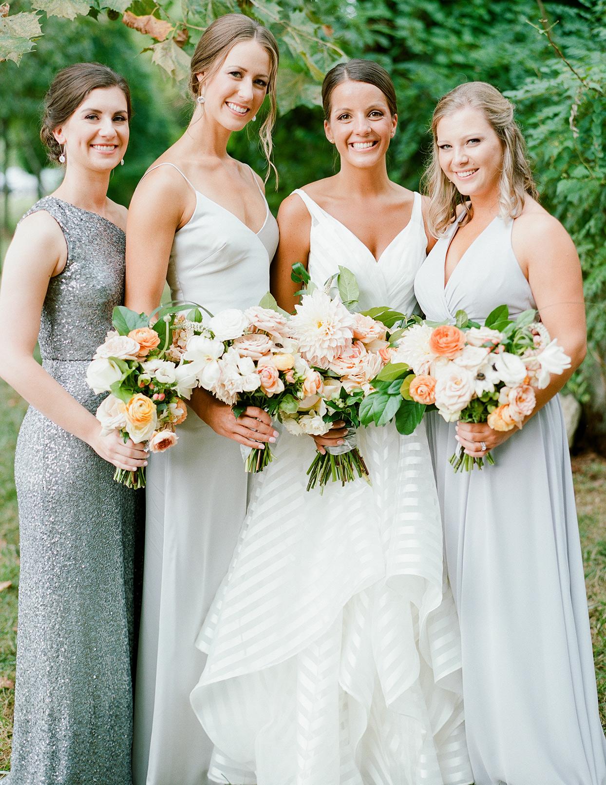 shelby david wedding bridesmaids in light blue