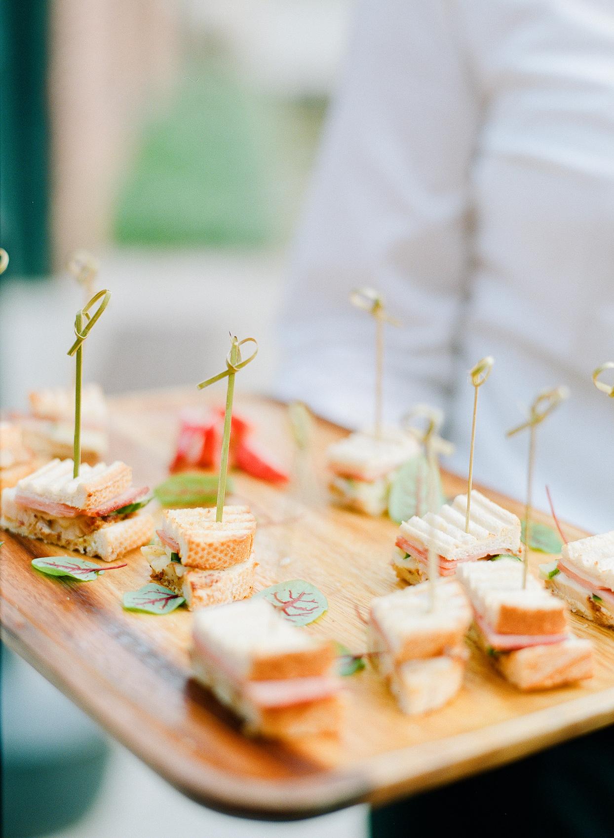 shelby david wedding cocktail food on trays