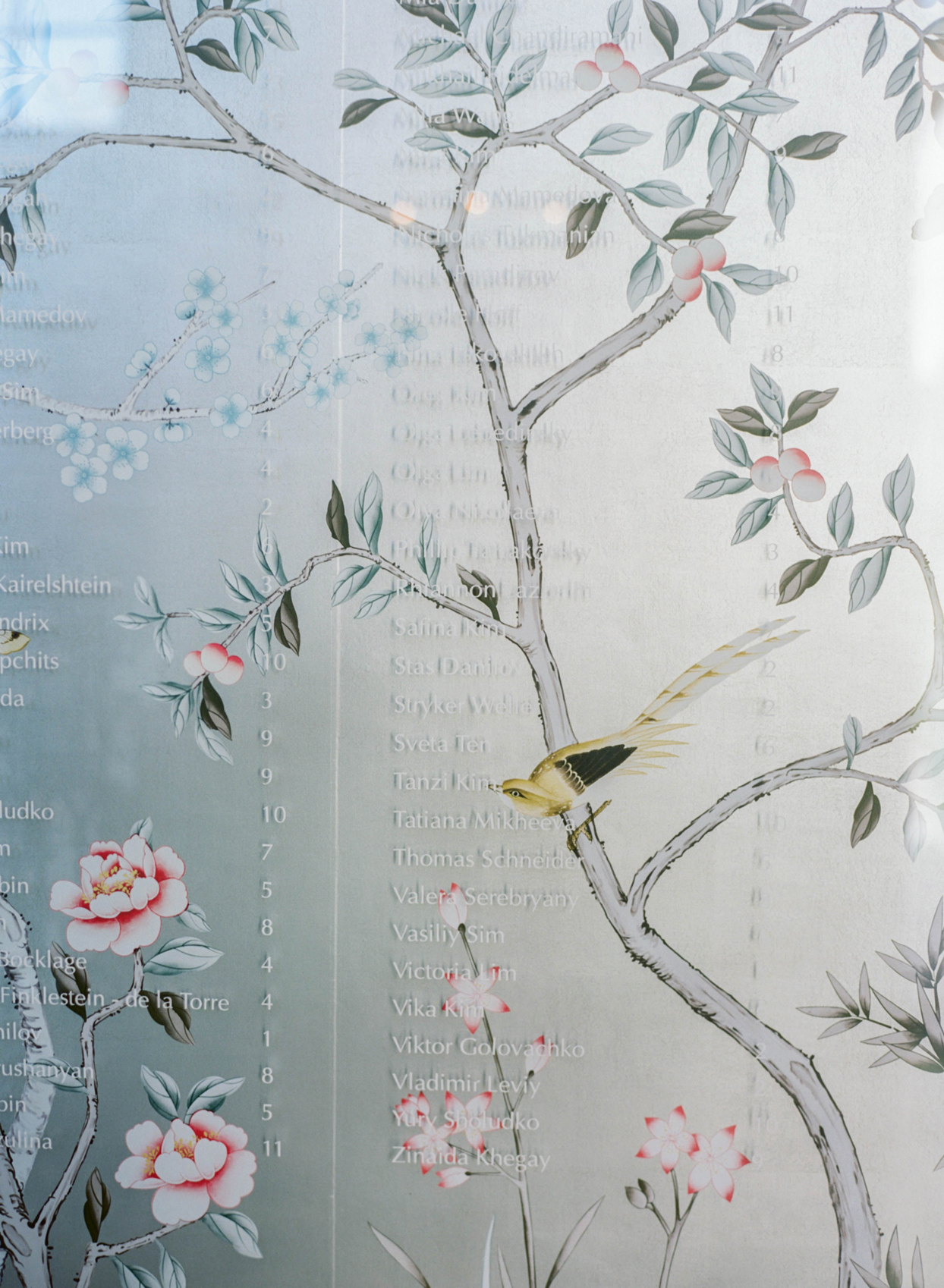 chinoiserie mural seating chart