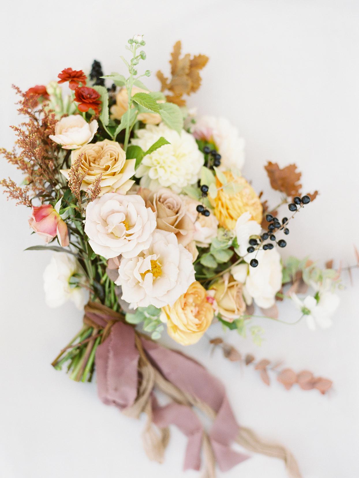 alexandra david wedding fall tones floral bouquet