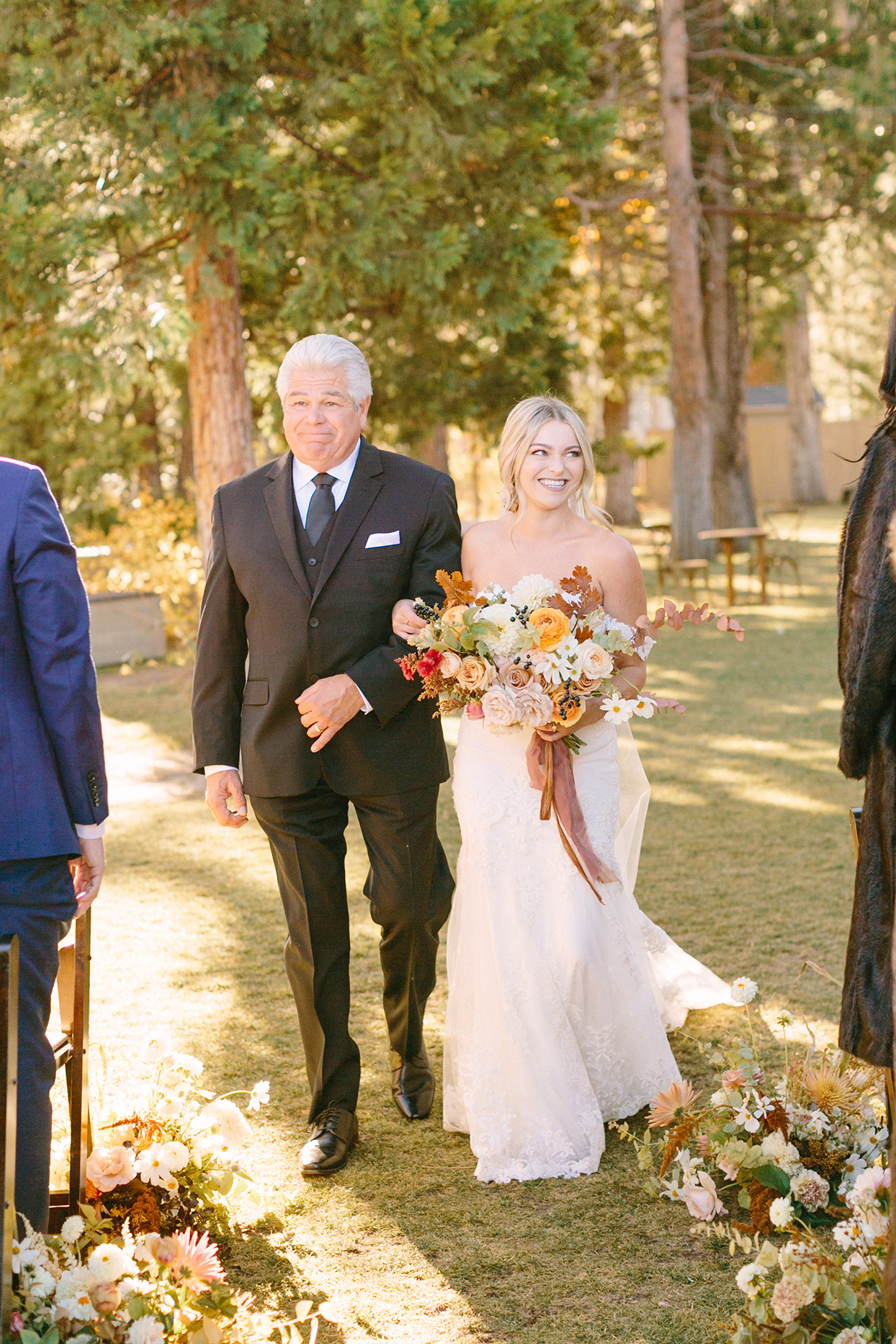 alexandra david wedding processional bride and father