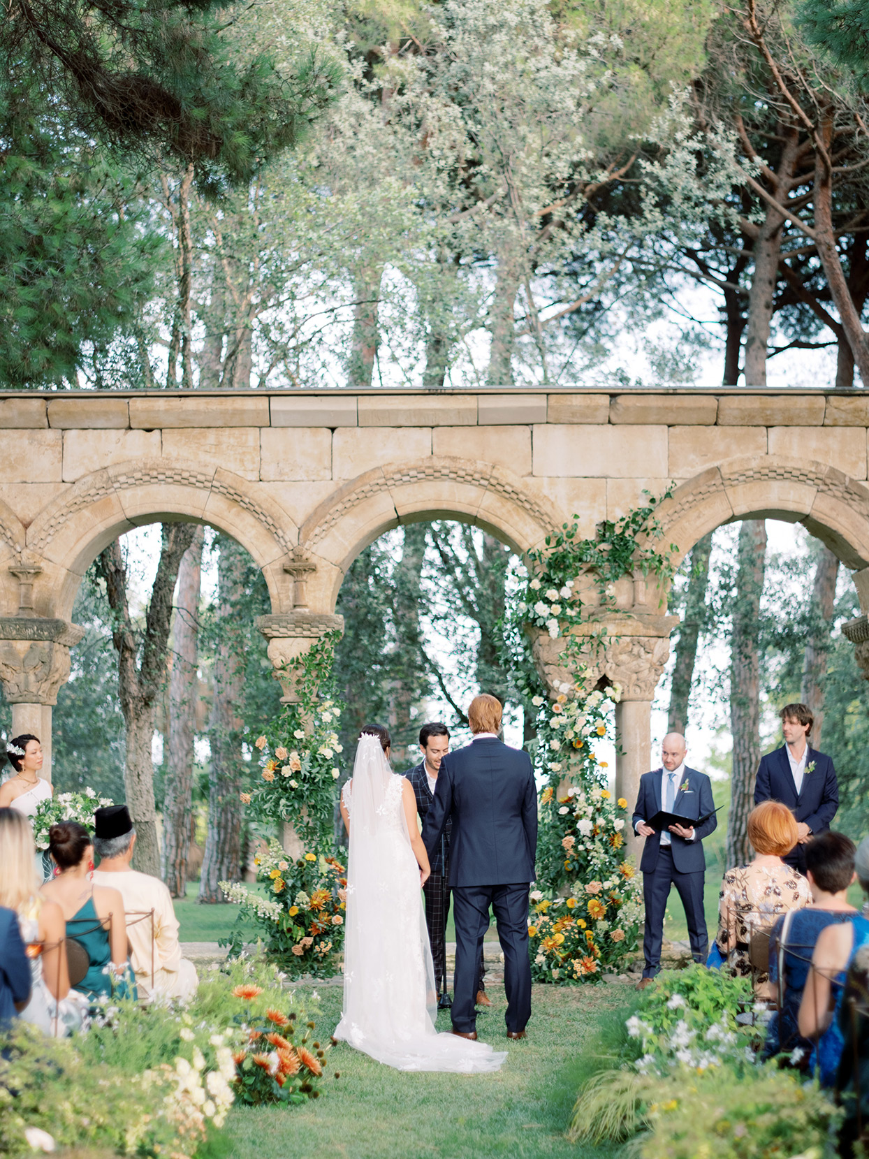 alyssa macia wedding ceremony under roman ruins