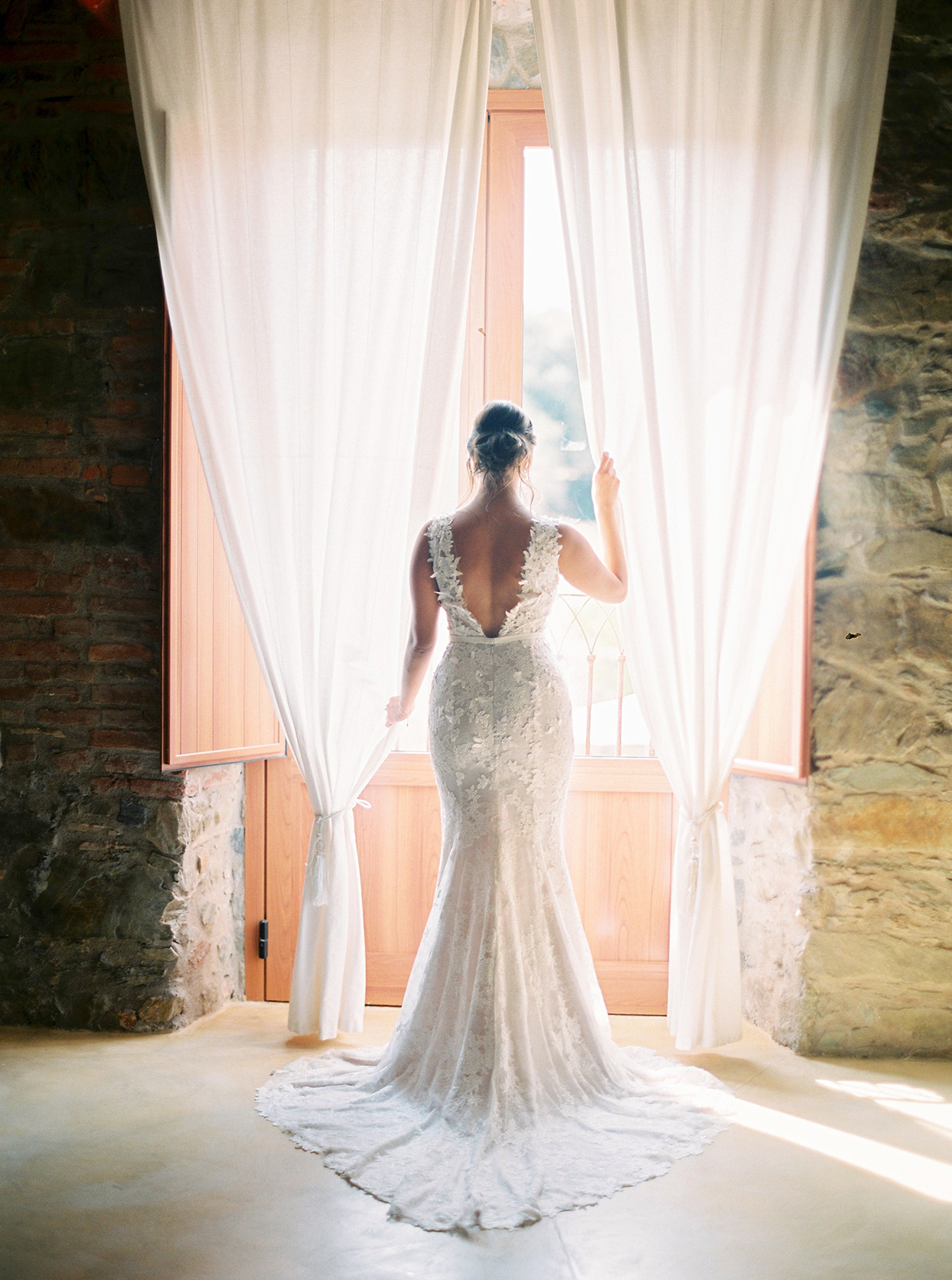 alyssa macia wedding bride silhouette in front of window