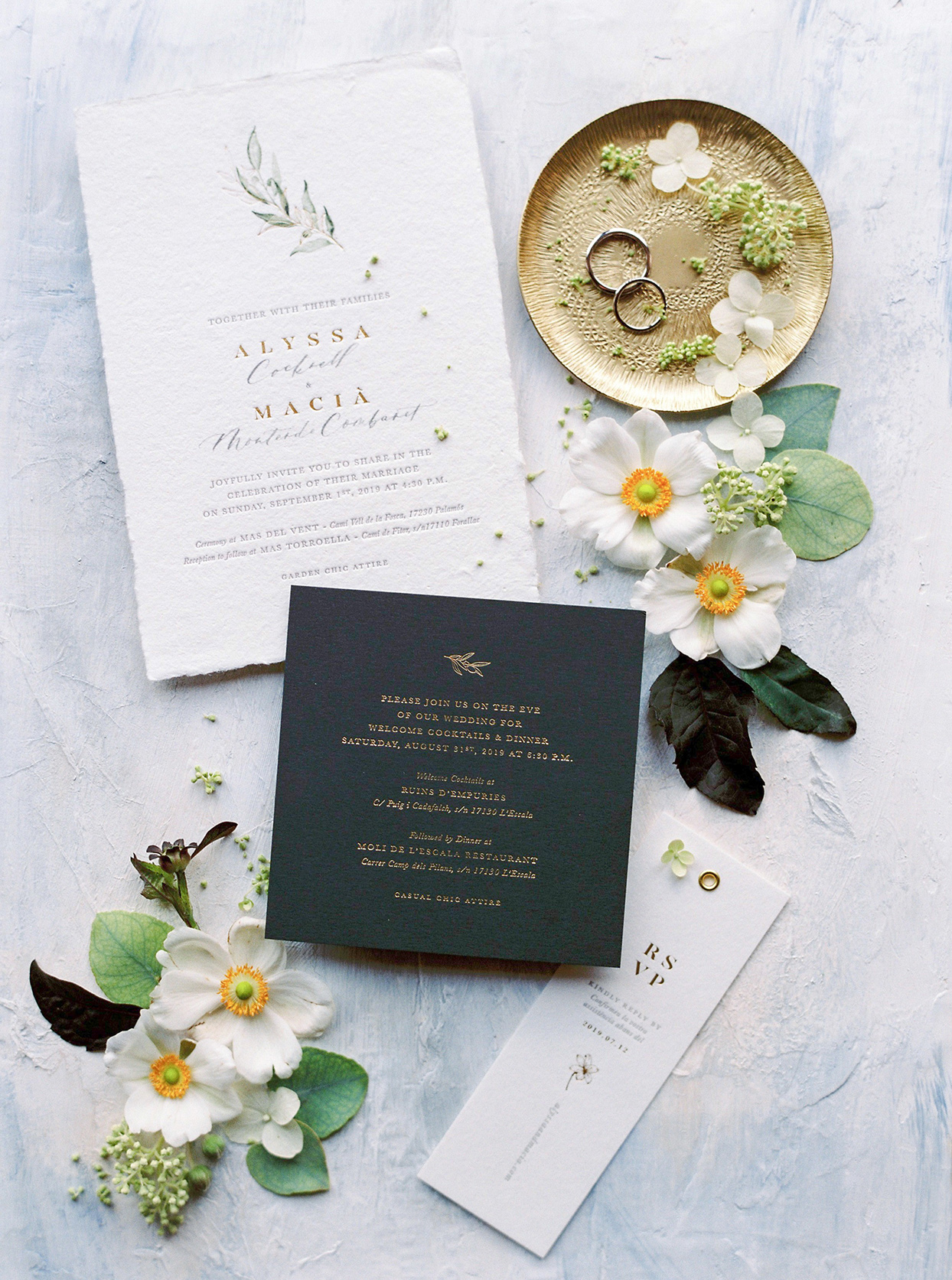 alyssa macia wedding rustic invites with flowers