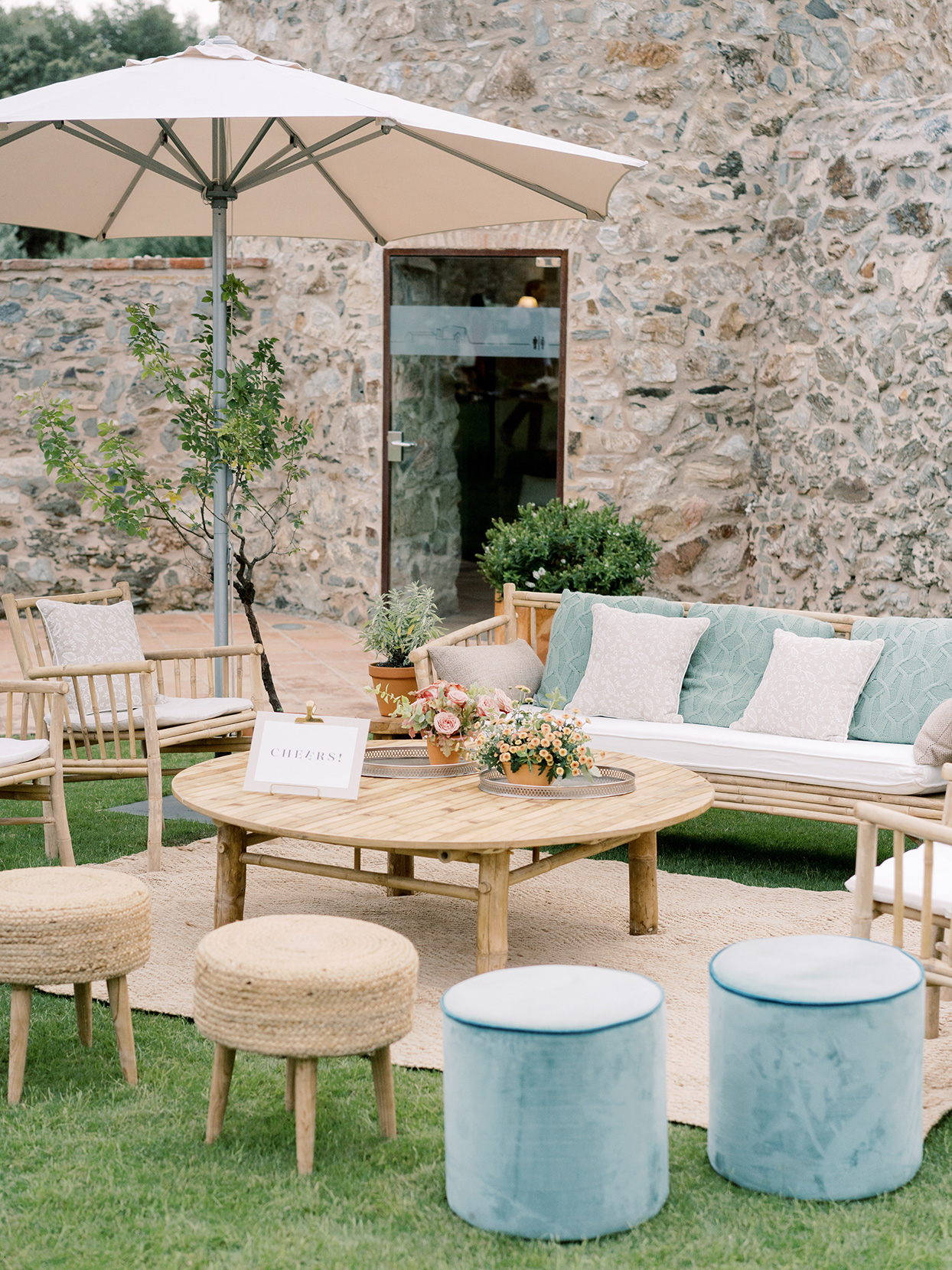 alyssa macia wedding outdoor lounge