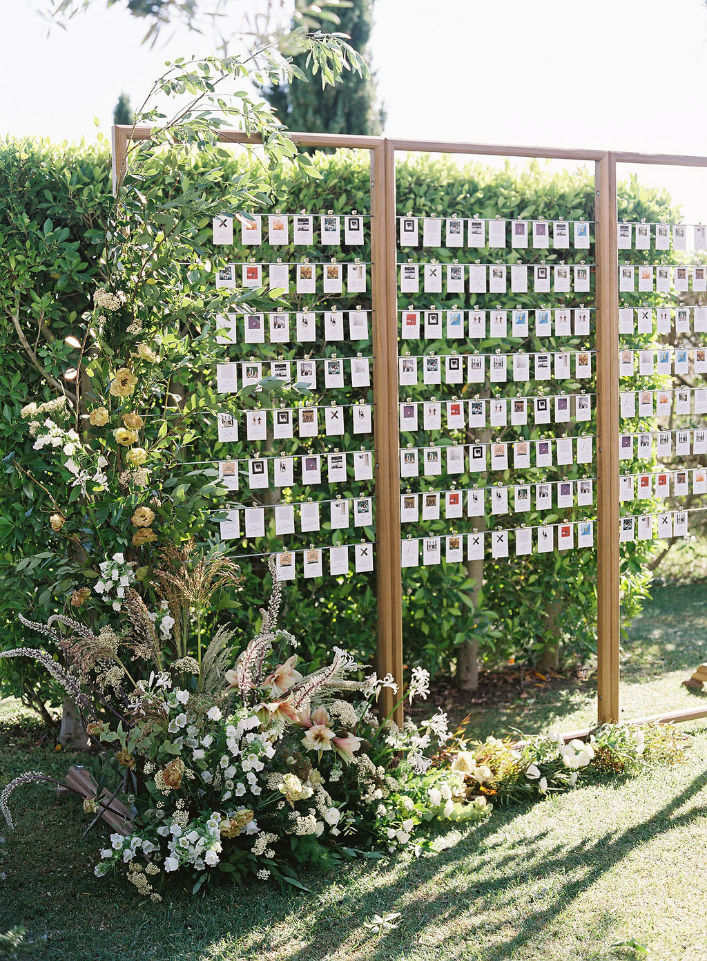 becca joey wedding escort cards display