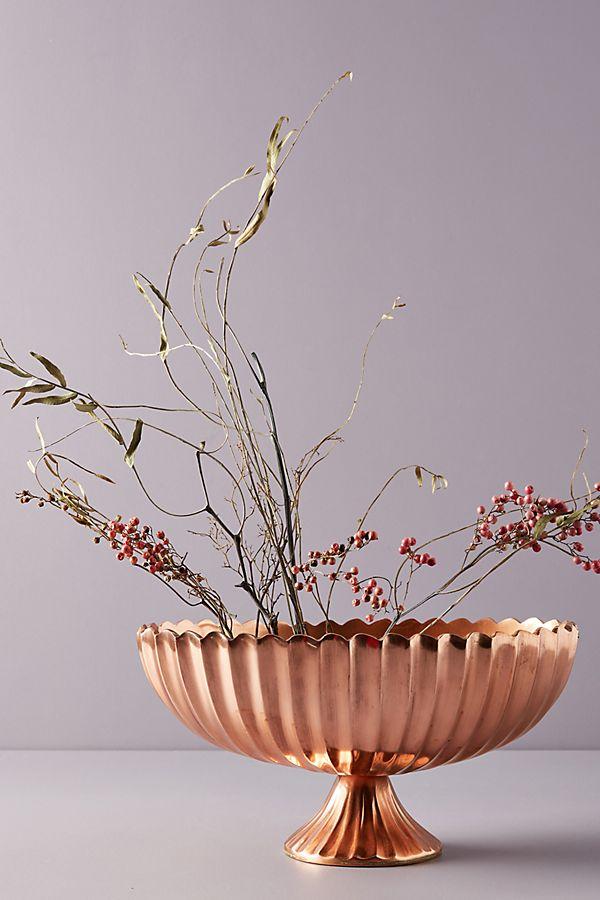 The Floral Society Copper Pedestal Vase