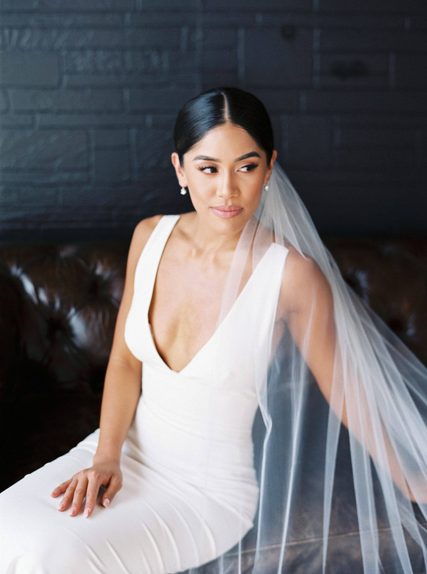dawn jordan wedding bride dress veil