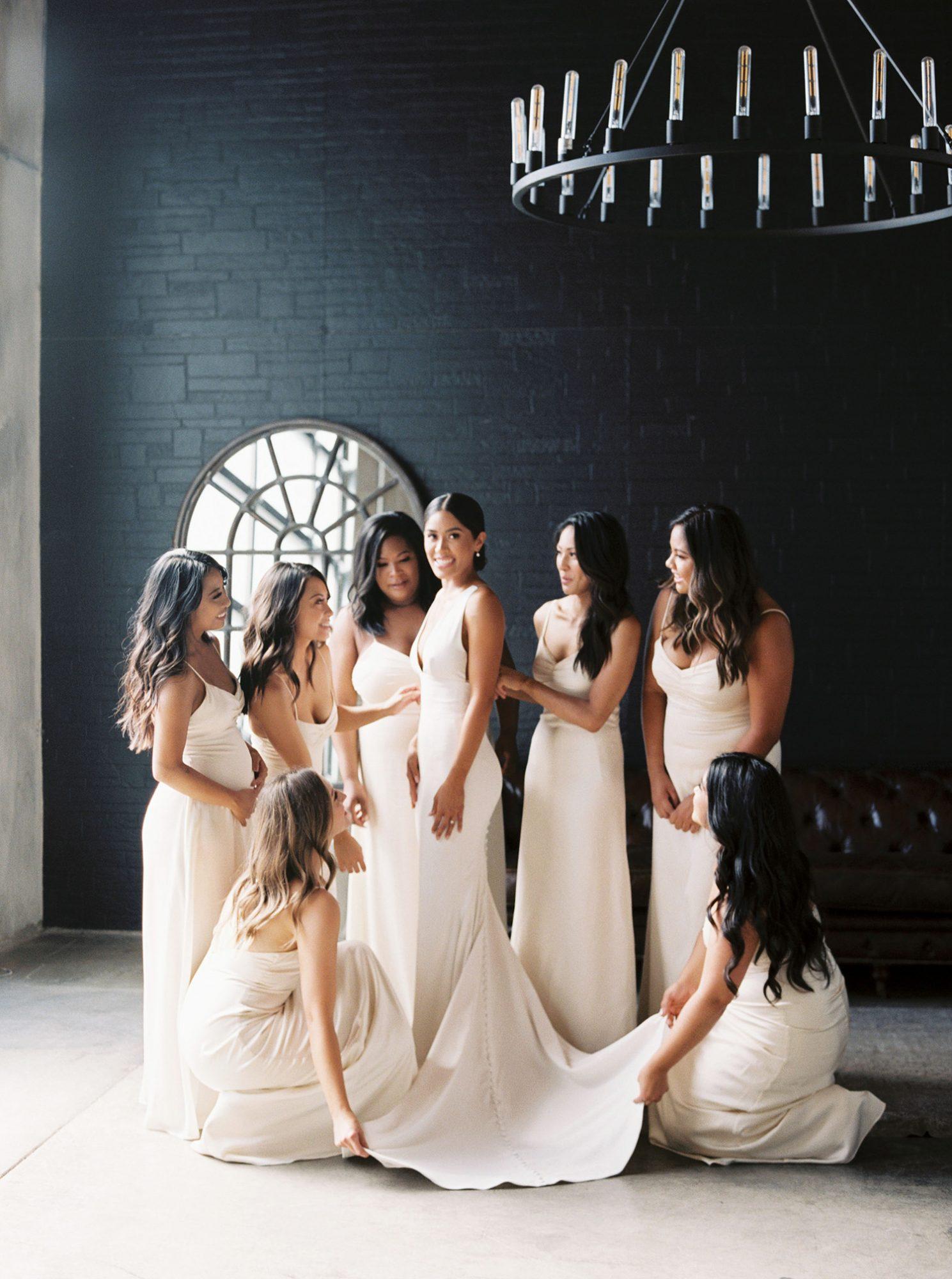 dawn jordan wedding bridesmaids and bride