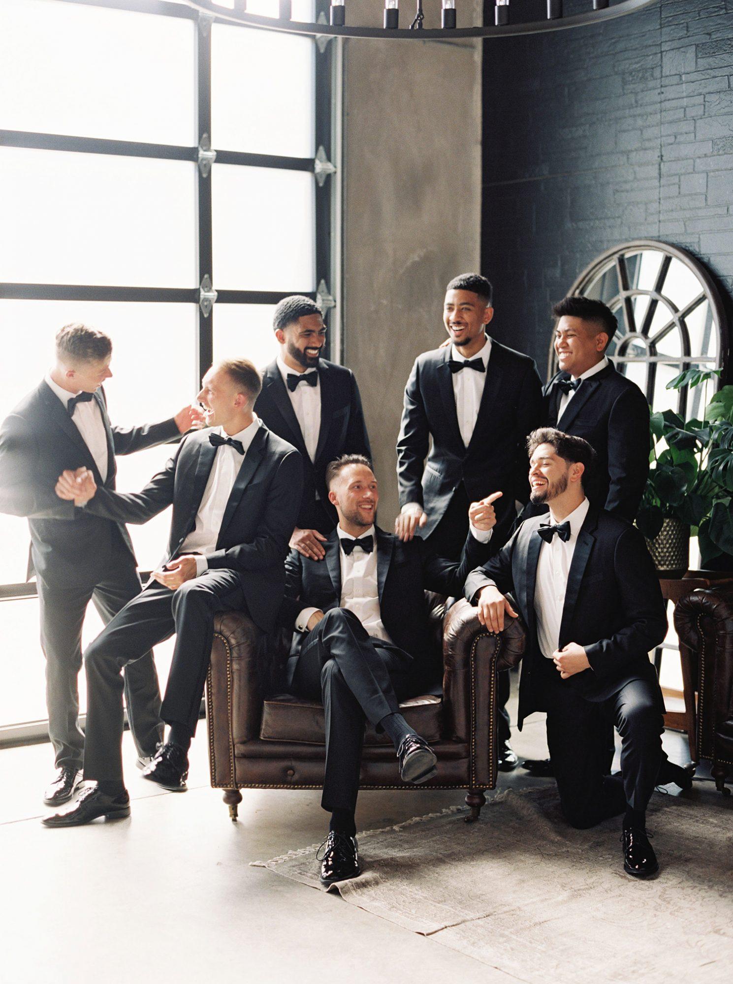 dawn jordan wedding groomsmen and groom