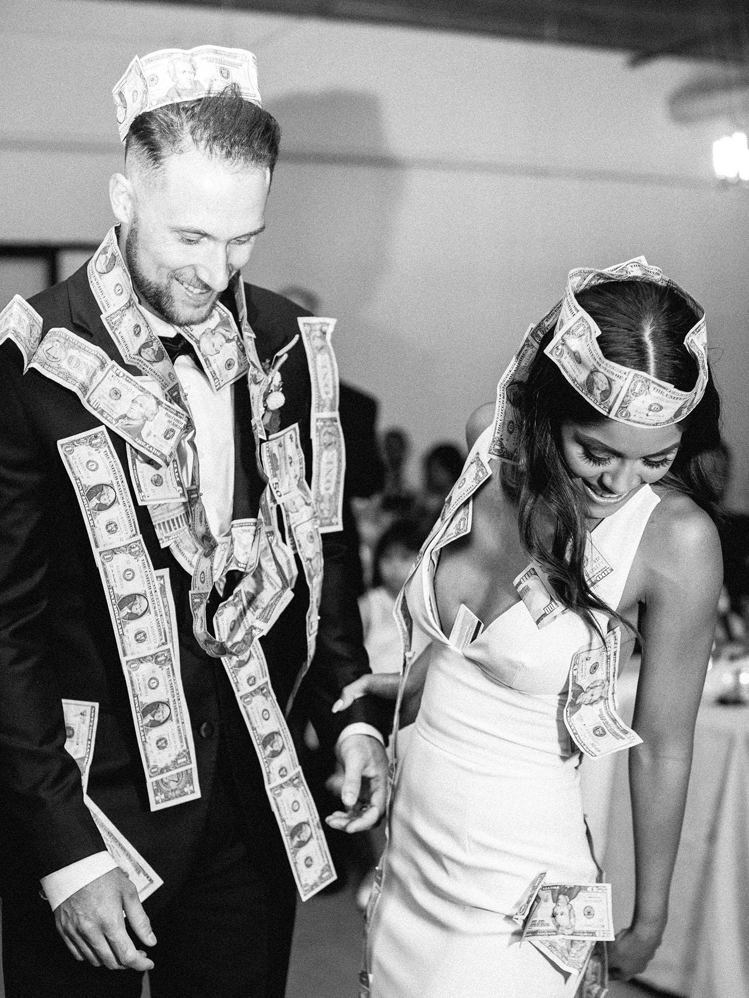 dawn jordan wedding couple money dance